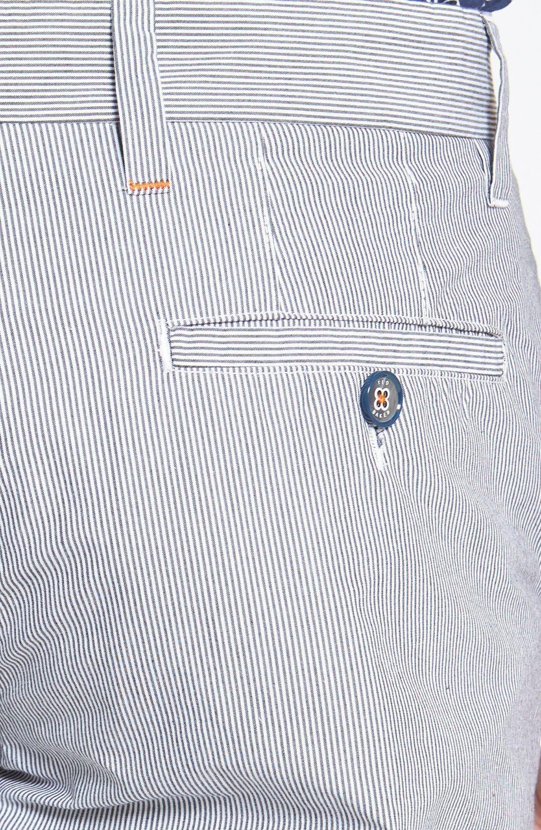 Alternate Image 3  - Ted Baker London 'Staddle' Slim Fit Stripe Shorts