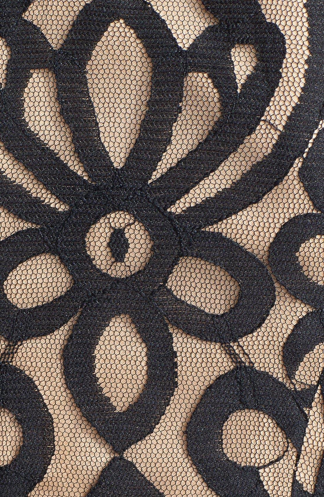 Alternate Image 4  - ML Monique Lhuillier Bridesmaids Lace Fit & Flare Dress