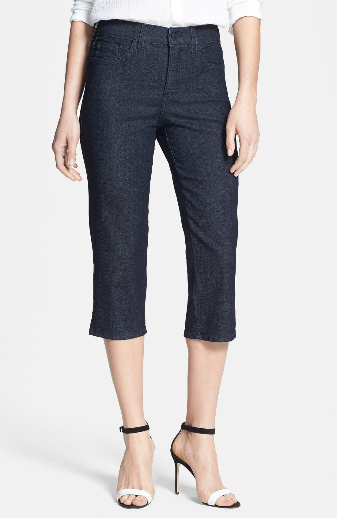 Alternate Image 1 Selected - NYDJ 'Hayden' Stretch Denim Crop Jeans (Dark Enzyme) (Petite)
