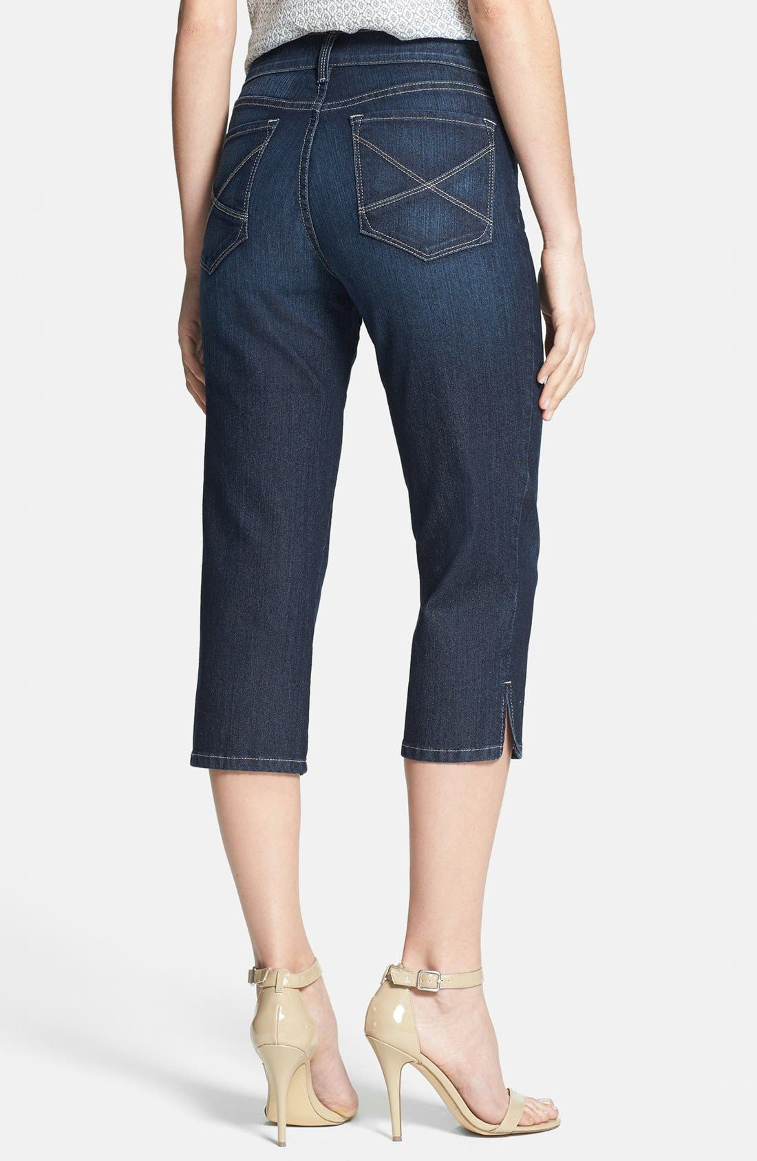 Alternate Image 2  - NYDJ 'Hayden' Stretch Crop Jeans (Hollywood)