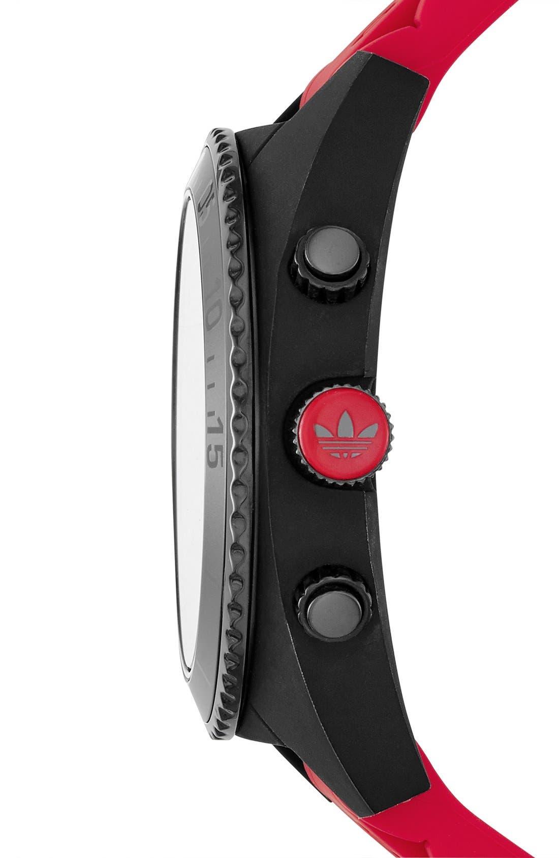 Alternate Image 3  - adidas Originals 'Brisbane' Chronograph Silicone Strap Watch, 47mm