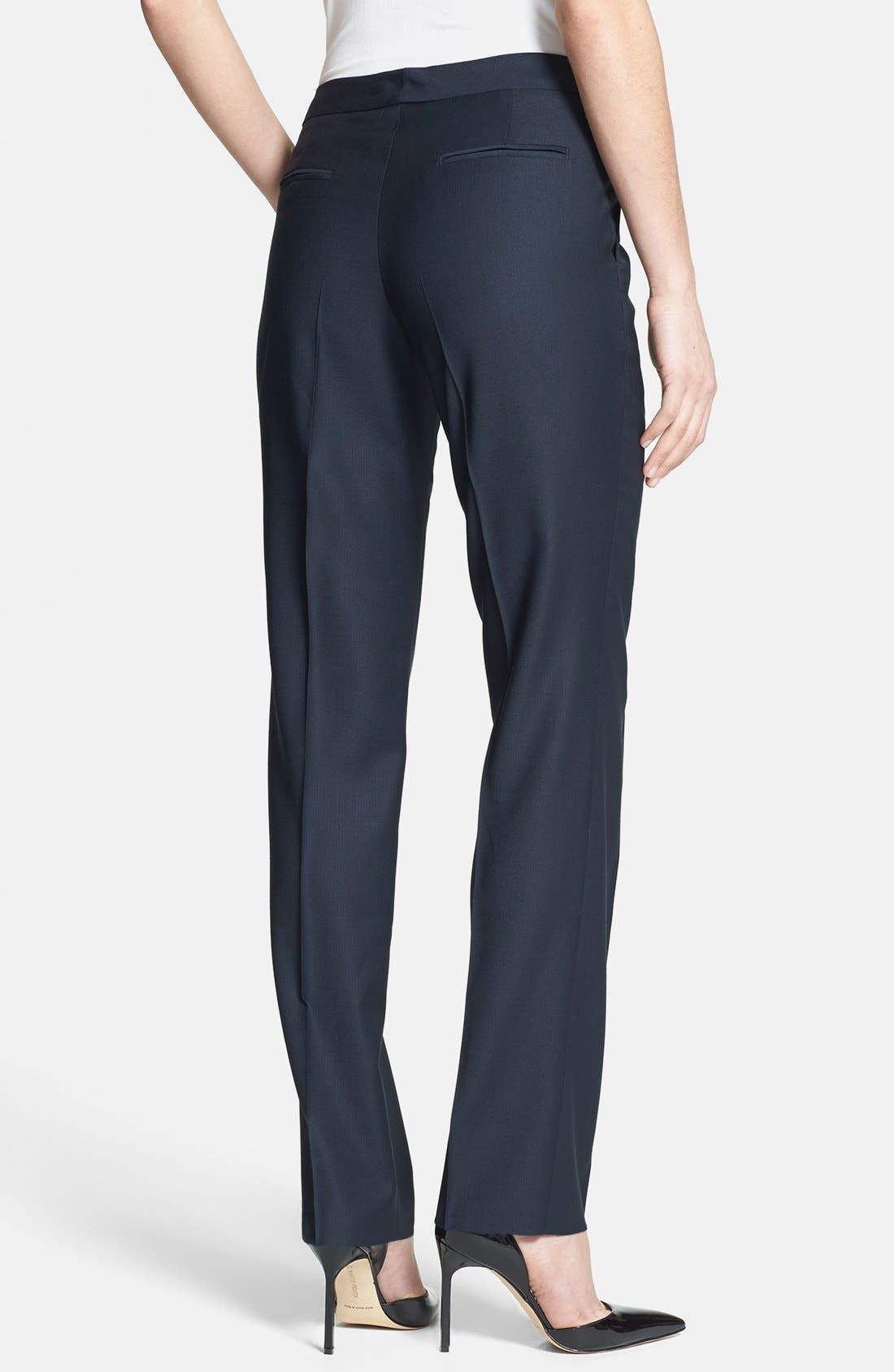Alternate Image 2  - Santorelli Slim Leg Wool Pants
