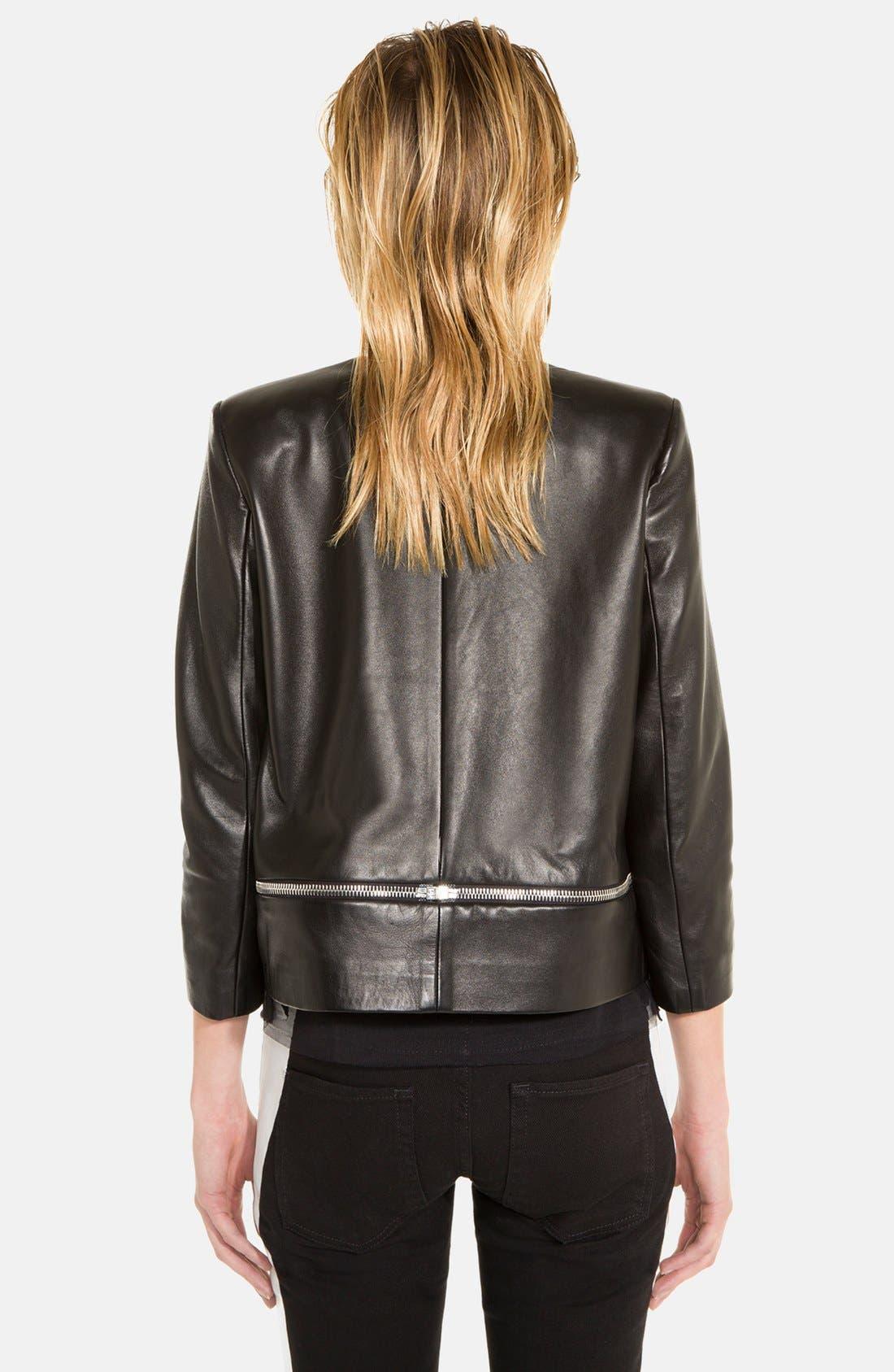 Alternate Image 2  - sandro 'Voeu' Leather Jacket