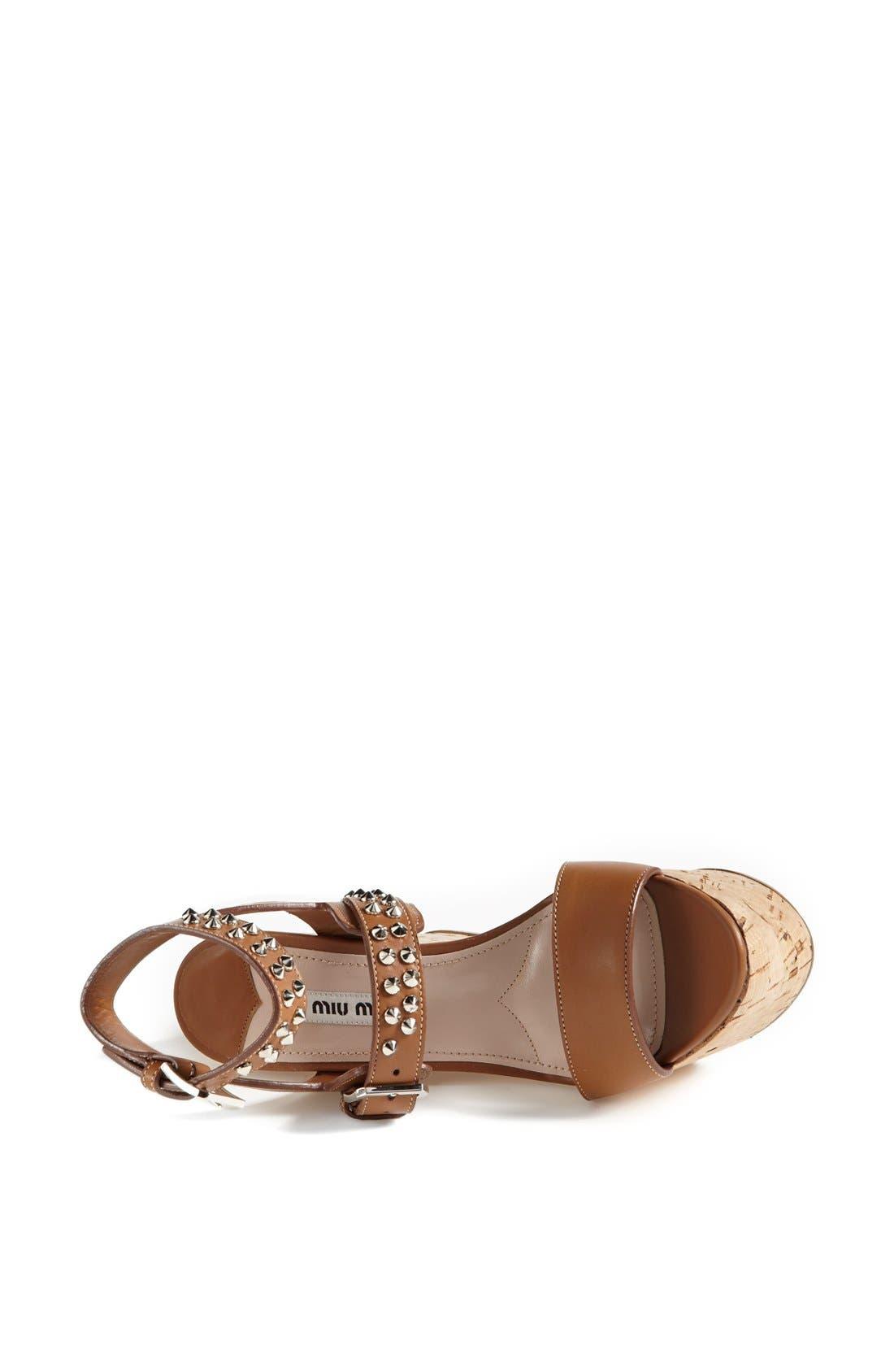 Alternate Image 3  - Miu Miu Studded Wedge Sandal