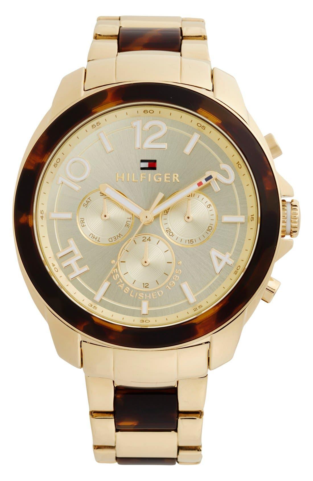 Alternate Image 1 Selected - Tommy Hilfiger 'Sport Lux' Multifunction Bracelet Watch, 42mm