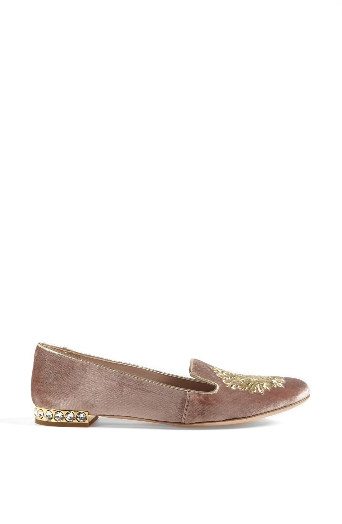 Alternate Image 4  - Miu Miu 'Crest' Moccasin