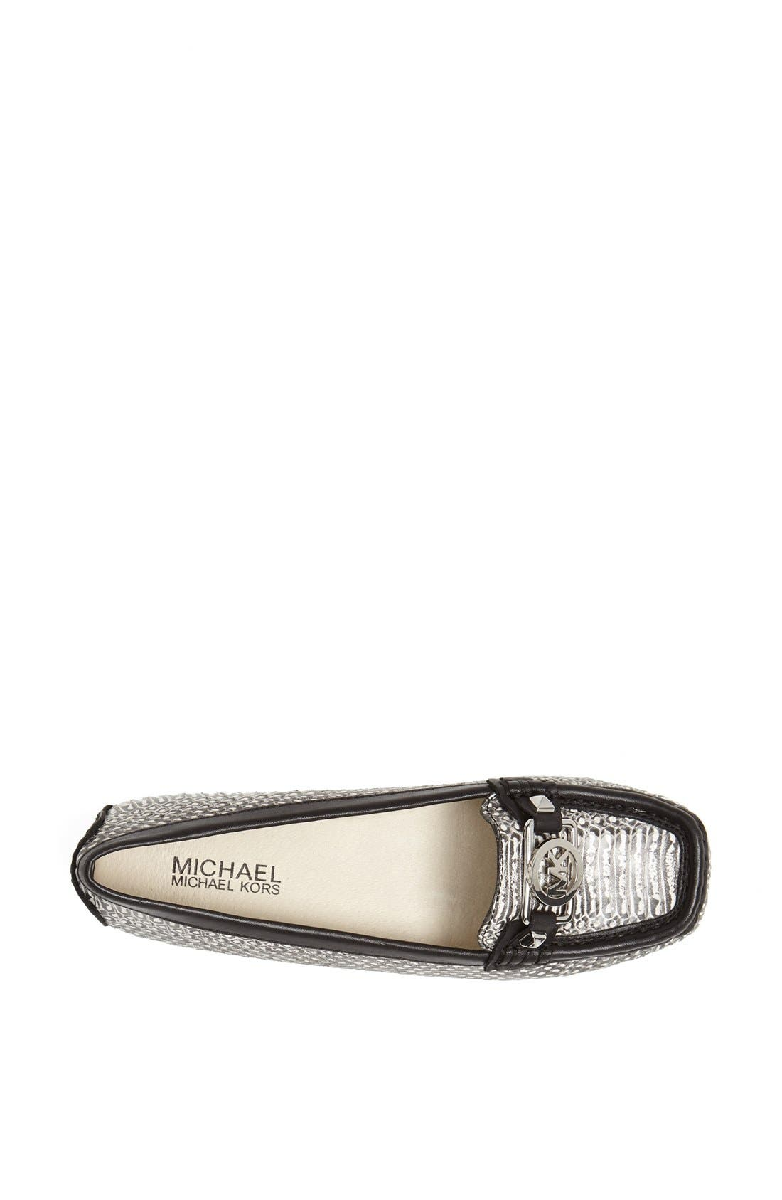 Alternate Image 3  - MICHAEL Michael Kors 'Charm' Snake Embossed Leather Flat