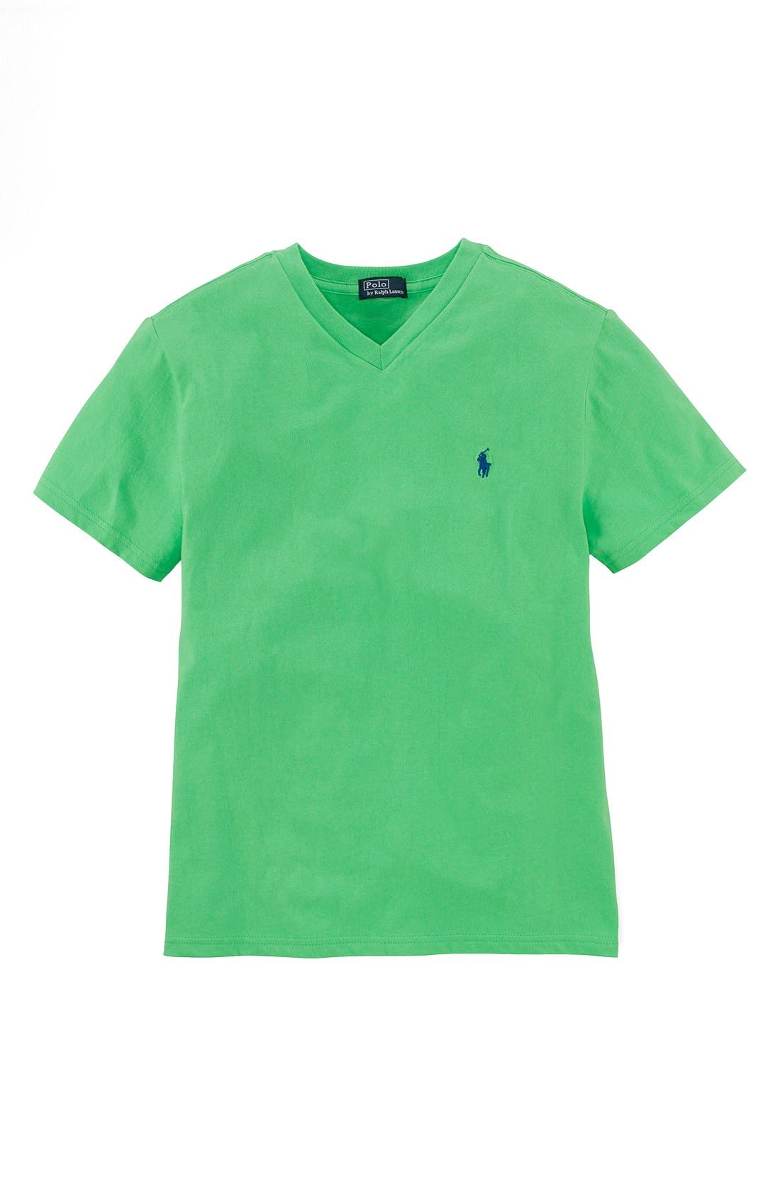 Main Image - Ralph Lauren V-Neck T-Shirt (Big Boys)