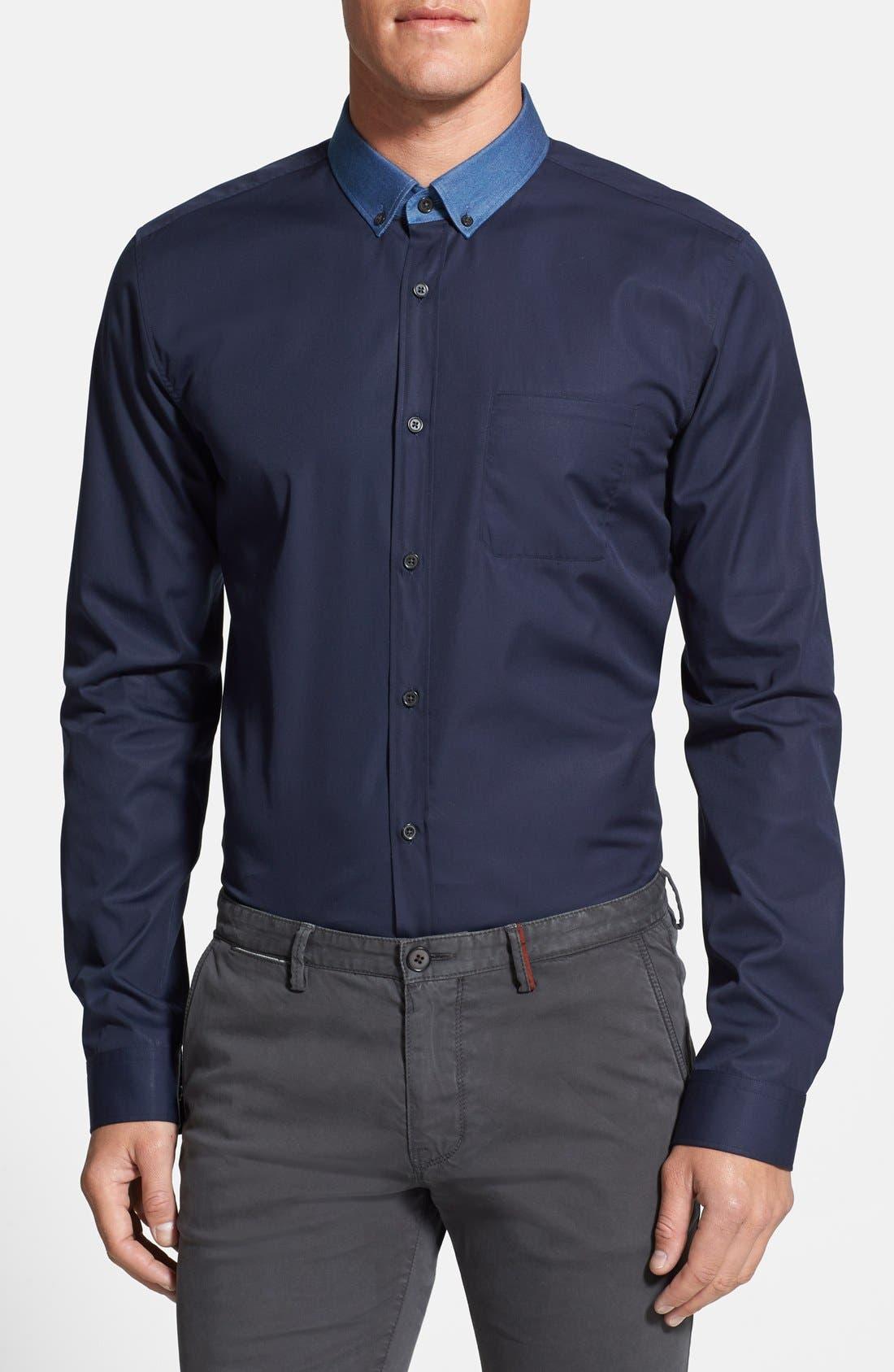 Alternate Image 1 Selected - HUGO 'Enico' Sport Shirt