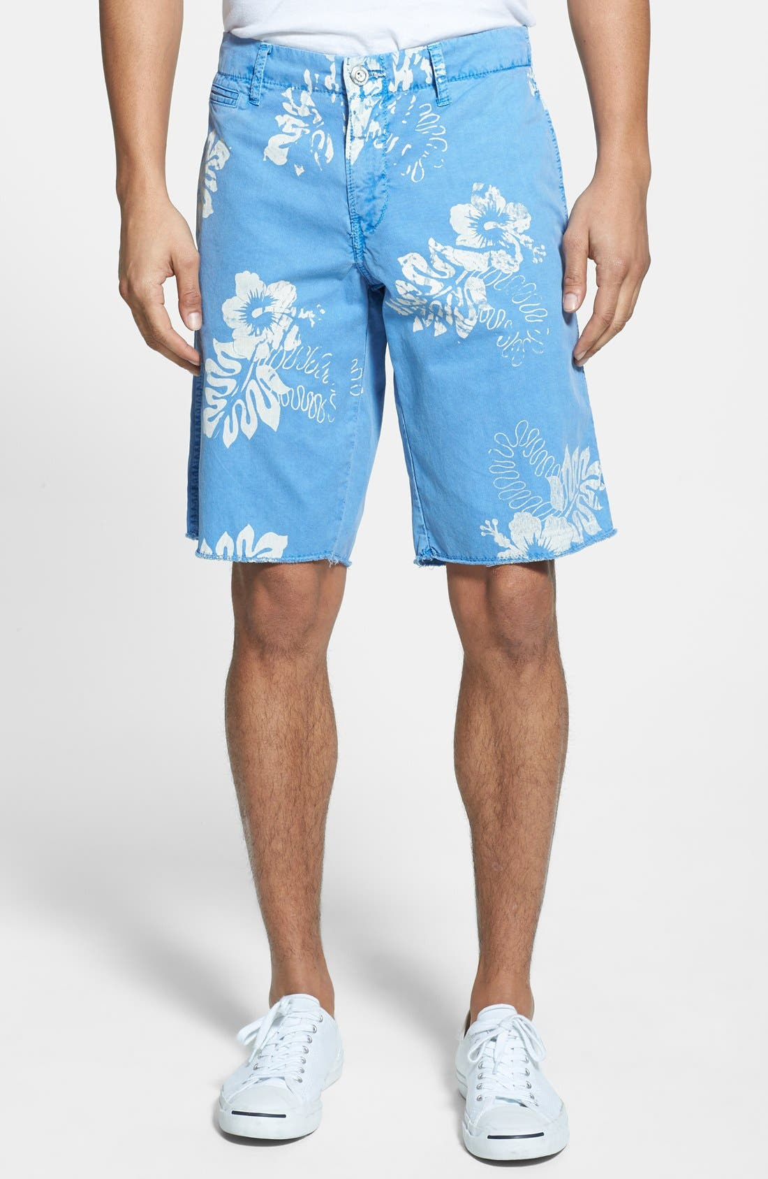 Alternate Image 1 Selected - Original Paperbacks 'St. Barts' Hibiscus Print Shorts