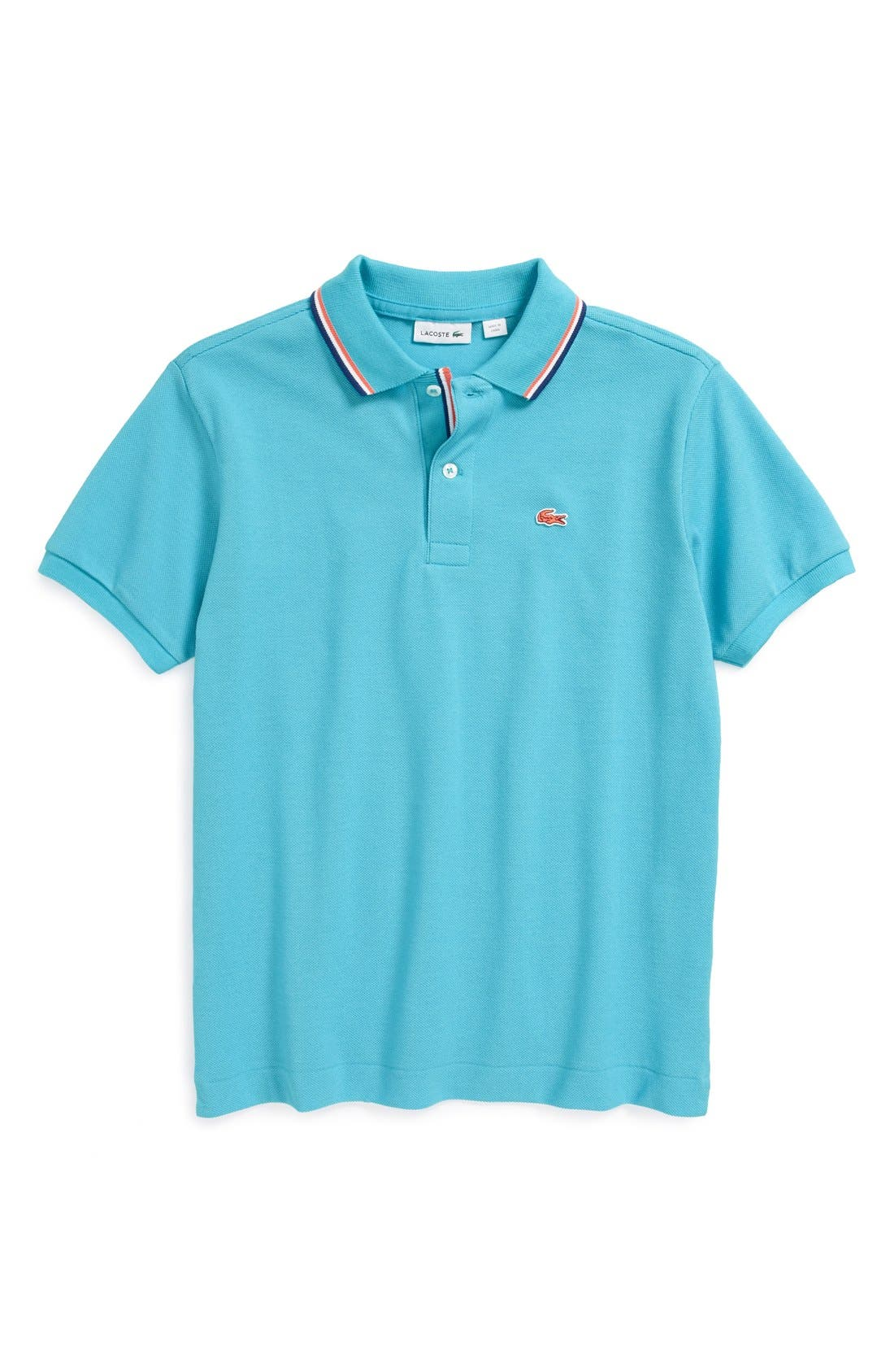 Main Image - Lacoste Tricolor Collar Piqué Polo (Little Boys & Big Boys)