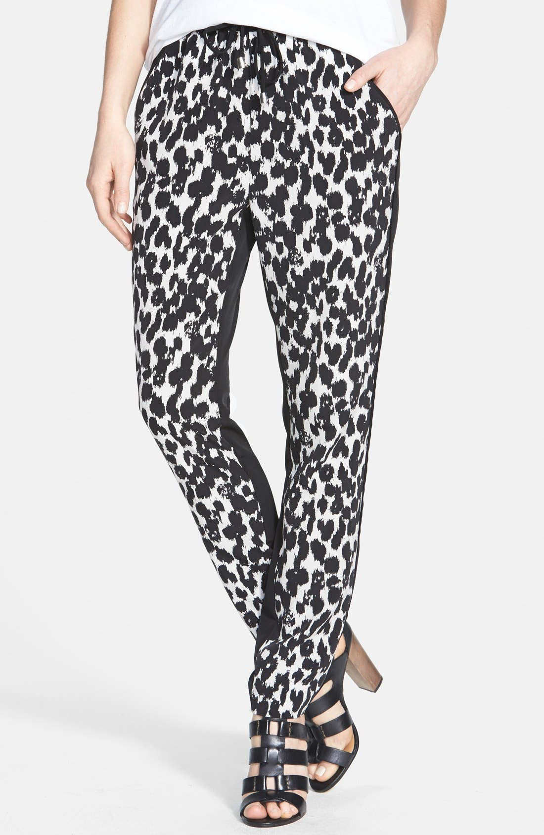 Main Image - Vince Camuto 'Animal Sketches' Waist Tie Pants