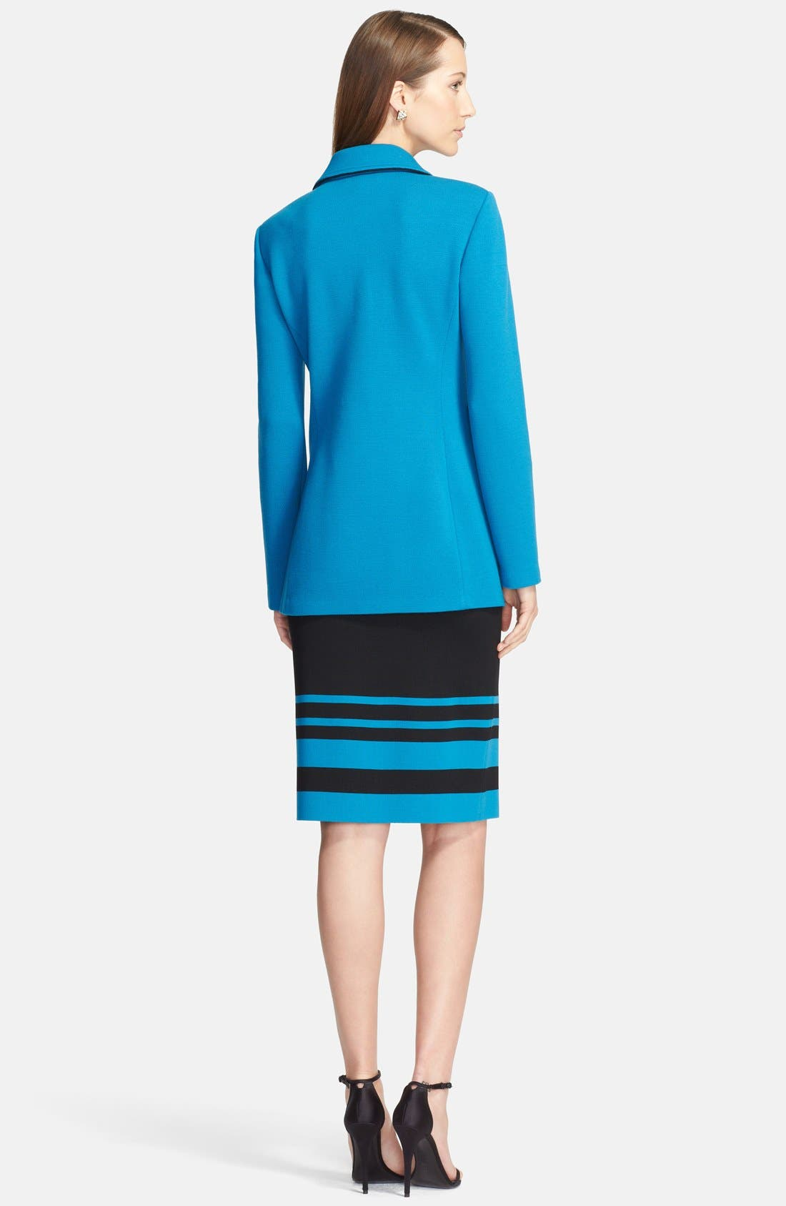 Alternate Image 2  - St. John Collection Double Milano Knit Blazer with Silk Piping