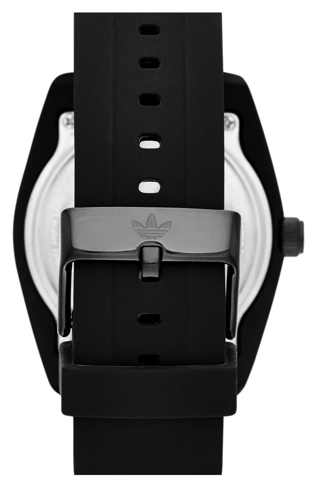 Alternate Image 2  - adidas Originals 'Santiago' Silicone Strap Watch, 42mm