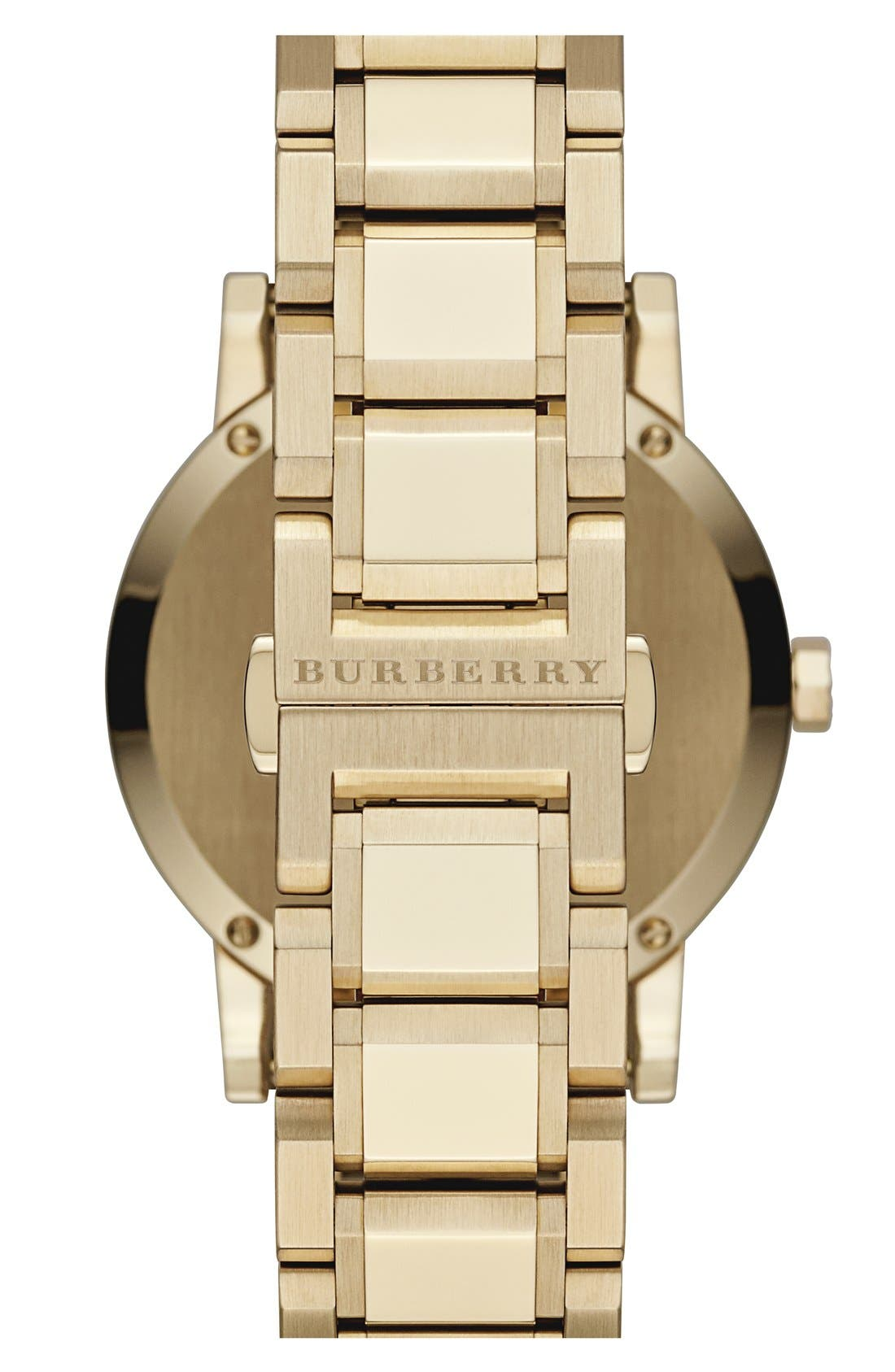 Alternate Image 2  - Burberry Check Stamped Round Bracelet Watch, 38mm
