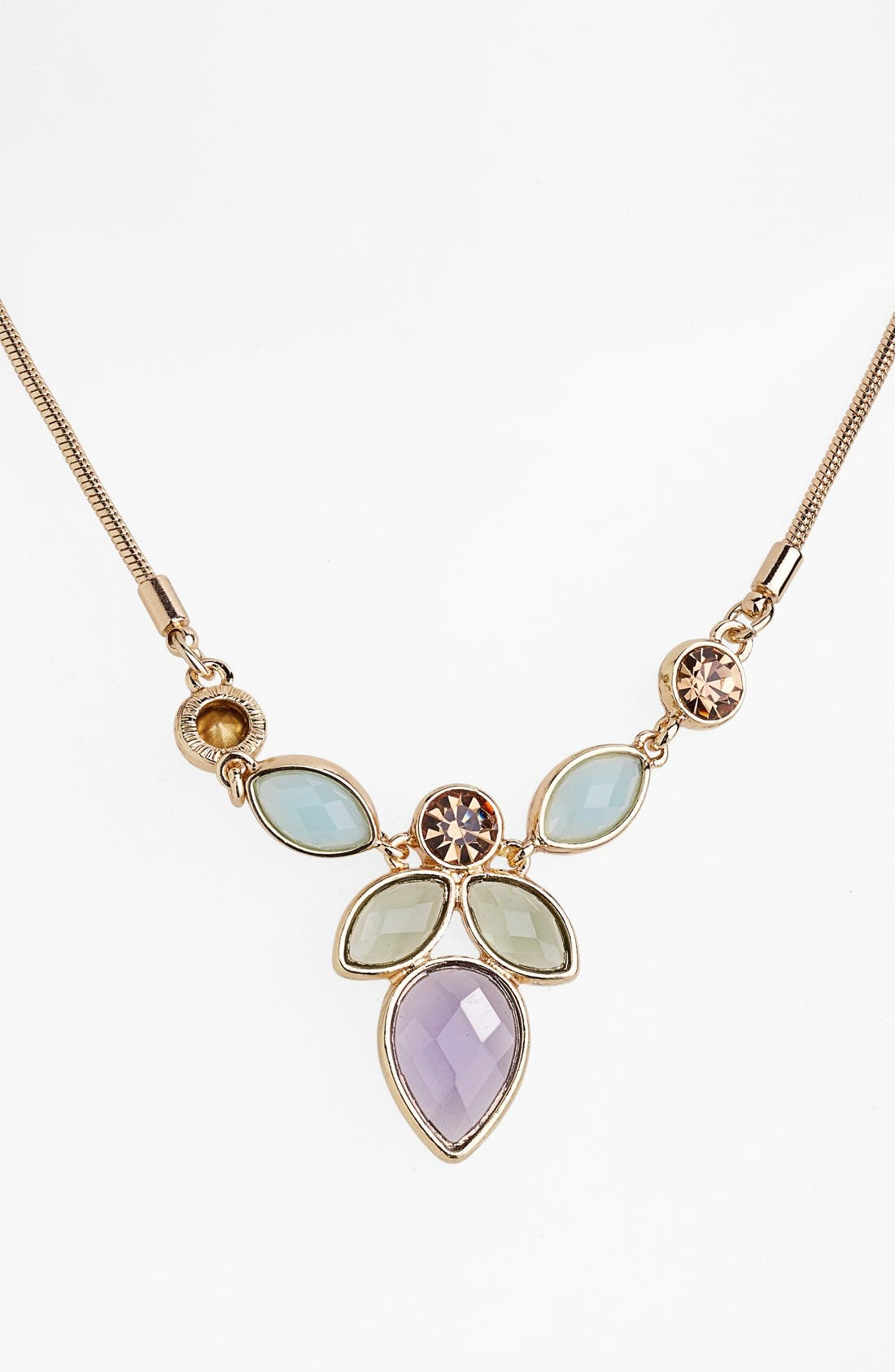Alternate Image 1 Selected - Anne Klein Multi Stone Pendant Necklace