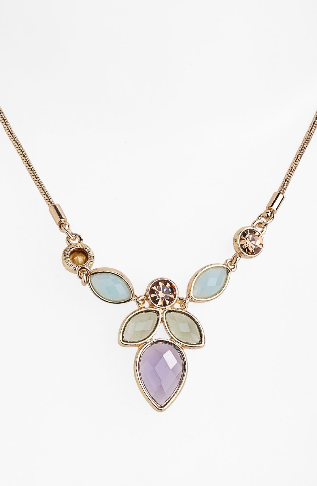 Main Image - Anne Klein Multi Stone Pendant Necklace