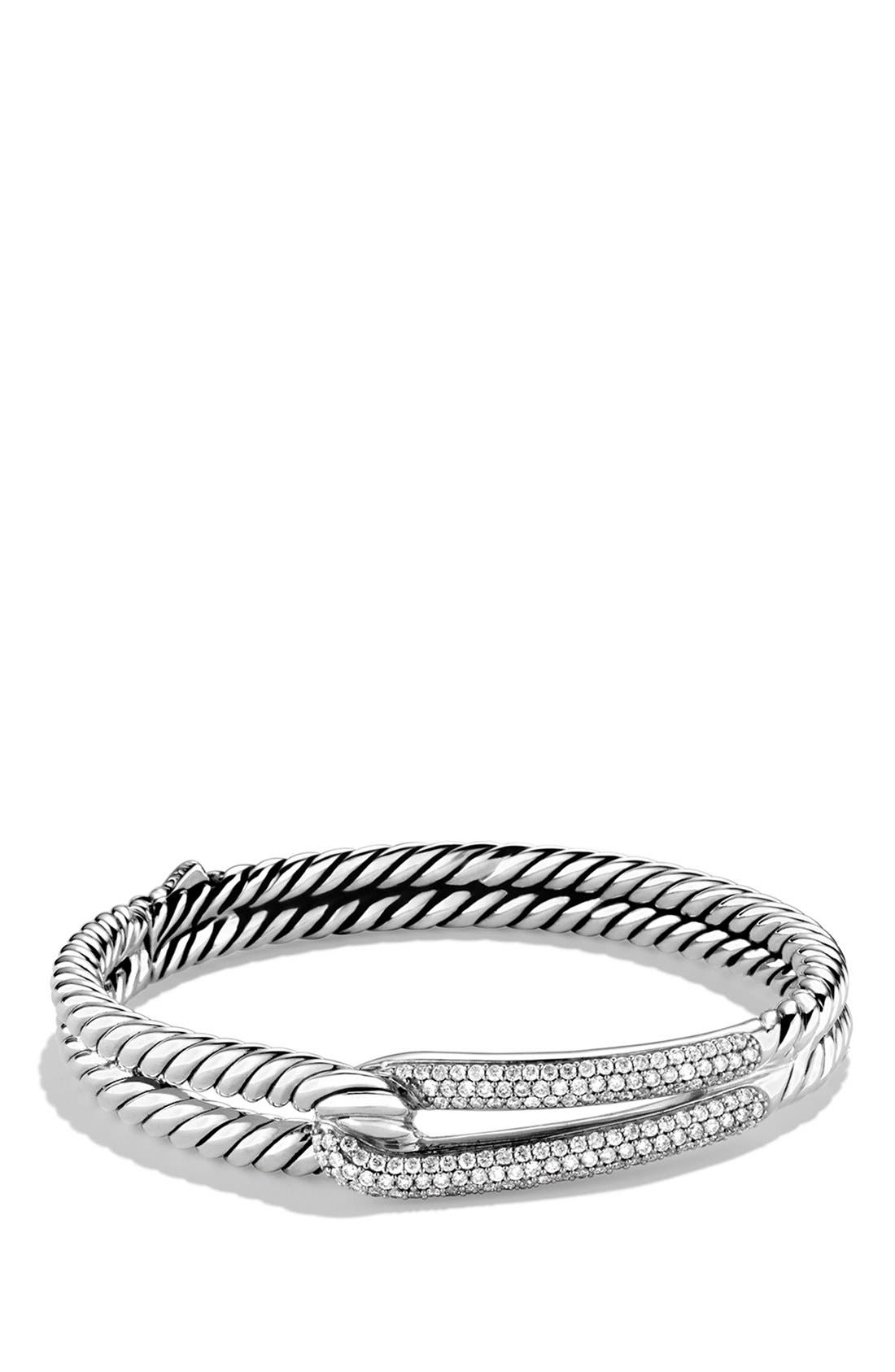 'Labyrinth' Single-Loop Bracelet with Diamonds,                         Main,                         color, Diamond