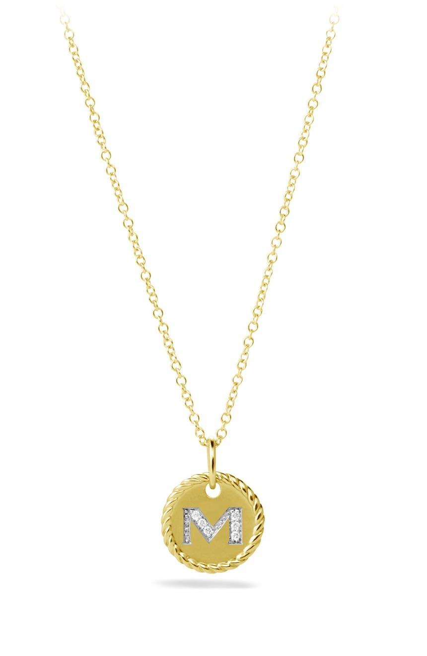 David yurman cable collectibles initial pendant with diamonds in david yurman cable collectibles initial pendant with diamonds in gold on chain nordstrom aloadofball Choice Image