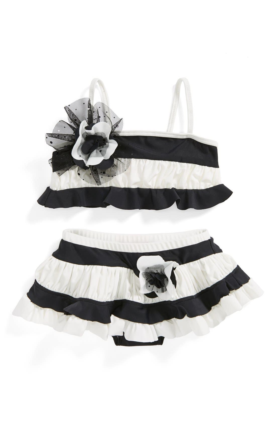 Main Image - Isobella & Chloe 'Sparkling Tide' Two-Piece Swimsuit (Toddler Girls)