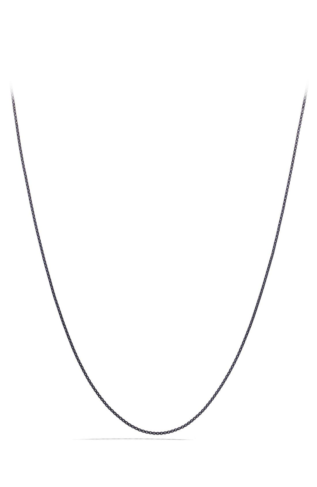 'Chain' Box Chain Necklace,                             Main thumbnail 1, color,                             Silver