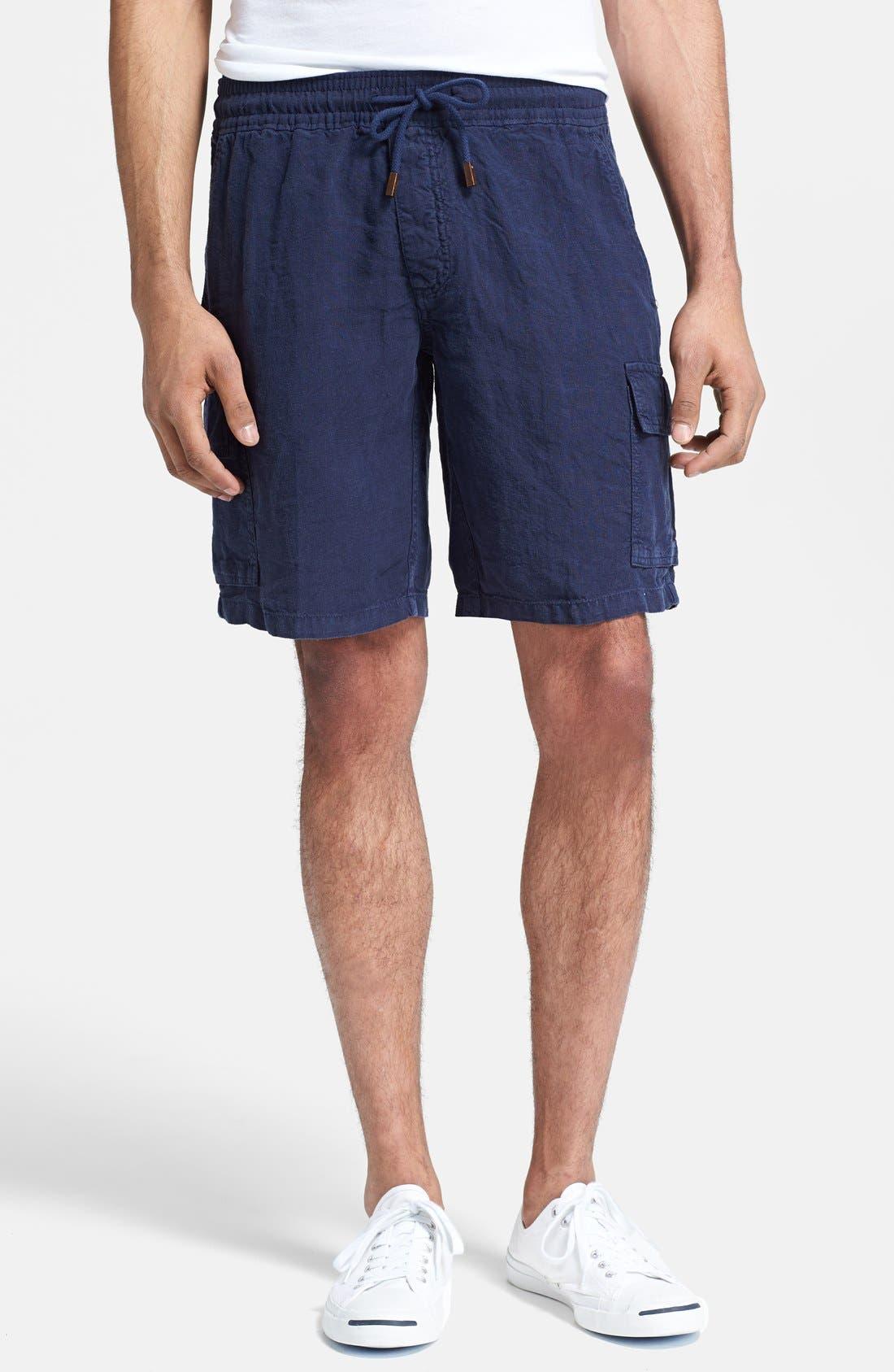 Main Image - Vilebrequin 'Baie' Linen Cargo Shorts