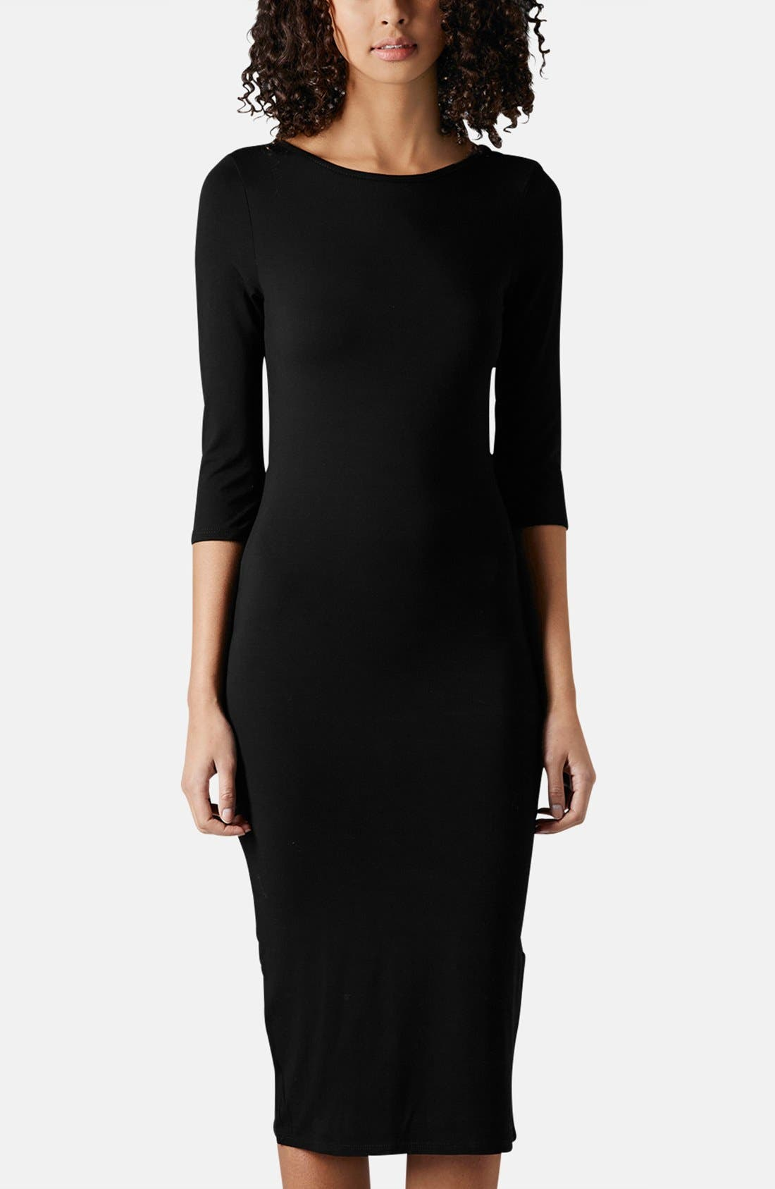 Main Image - Topshop Scoop Back Jersey Body-Con Dress