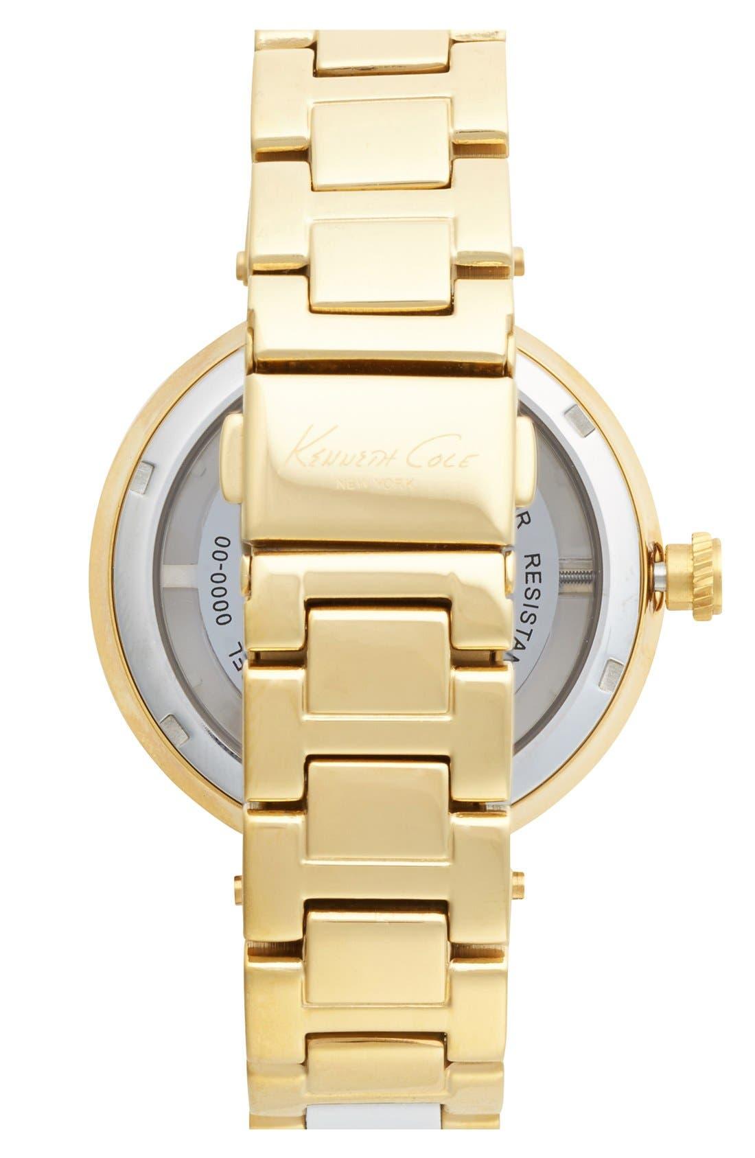 Alternate Image 2  - Kenneth Cole New York Multifunction Transparent Dial Bracelet Watch, 38mm