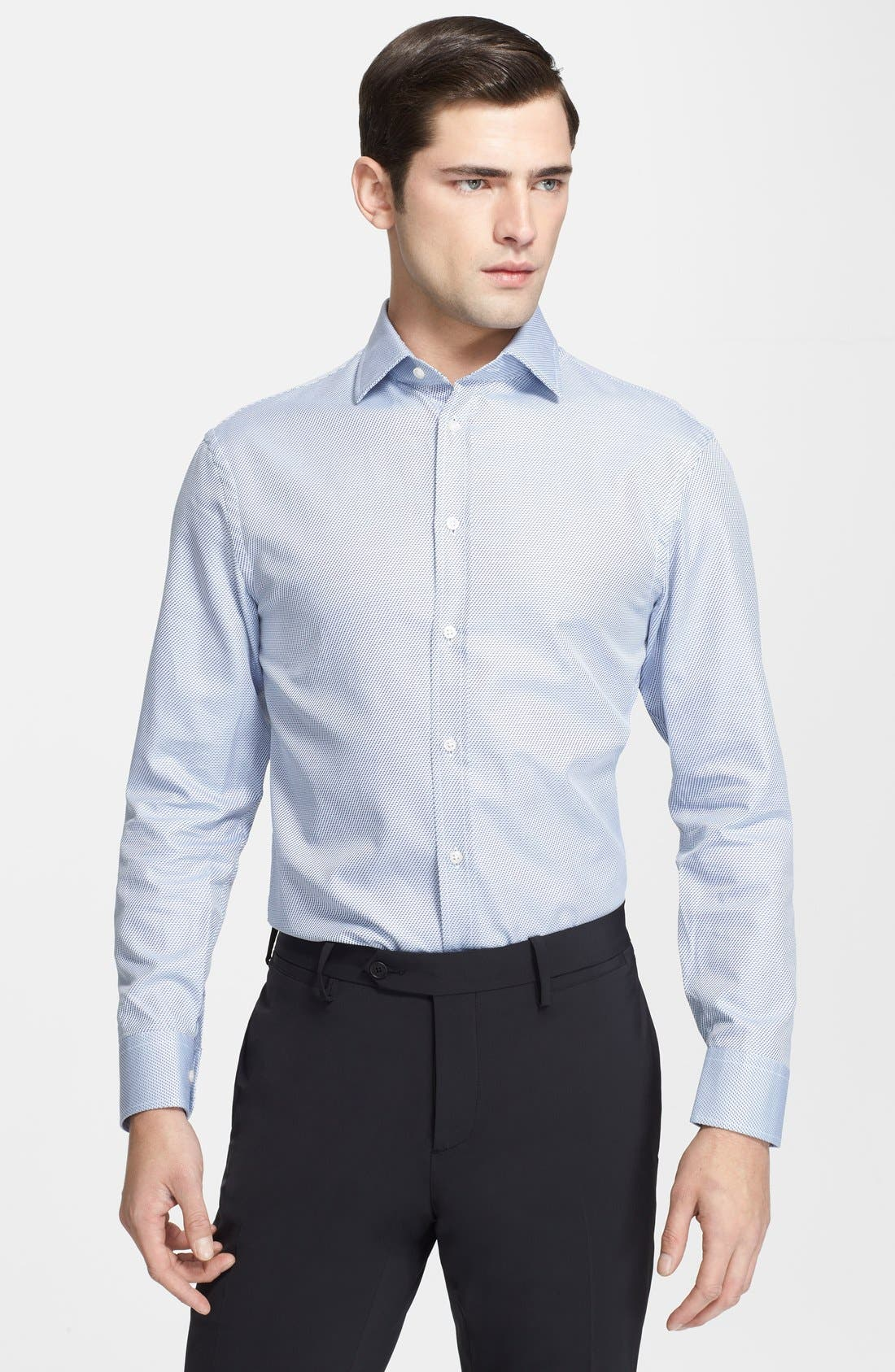 Alternate Image 1 Selected - Armani Collezioni Slim Fit Dress Shirt