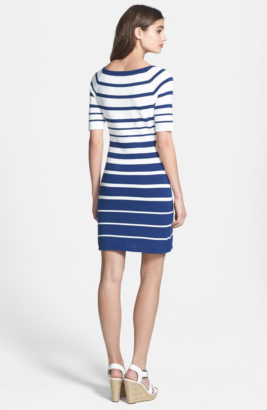 Alternate Image 2  - Trina Trina Turk 'Olive' Stripe Sweater Dress