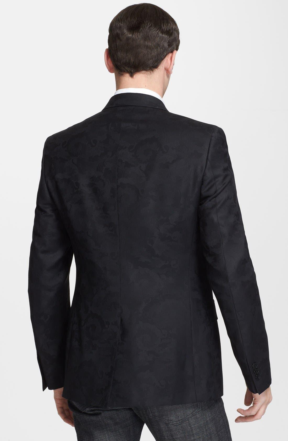 Alternate Image 2  - Versace Trend Fit Jacquard Wool Blend Sport Coat