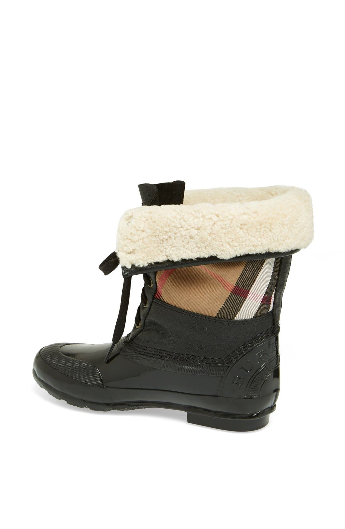 Alternate Image 2  - Burberry 'Danning' Waterproof Bootie