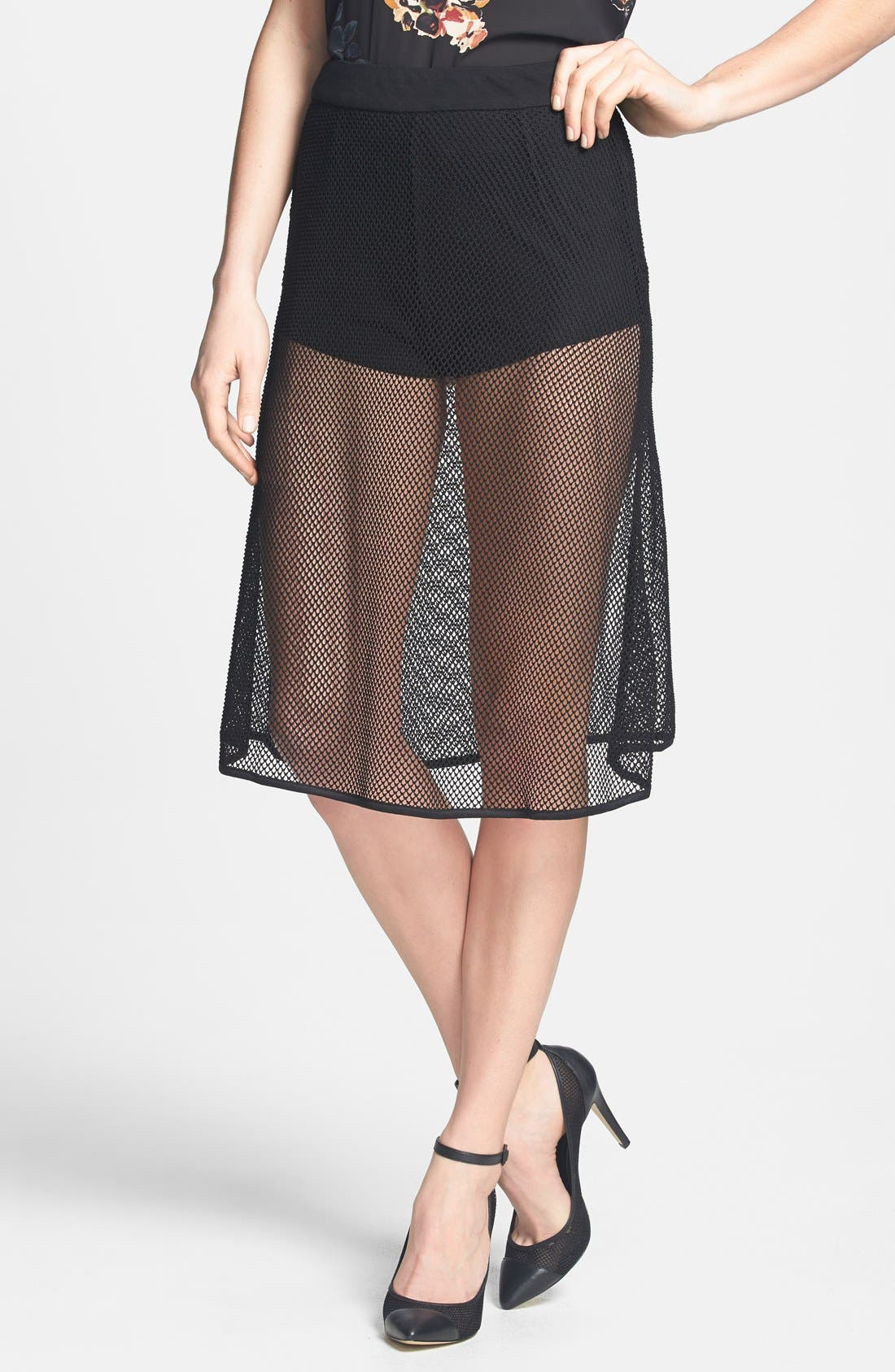 Main Image - Dirty Ballerina Mesh A-Line Skirt
