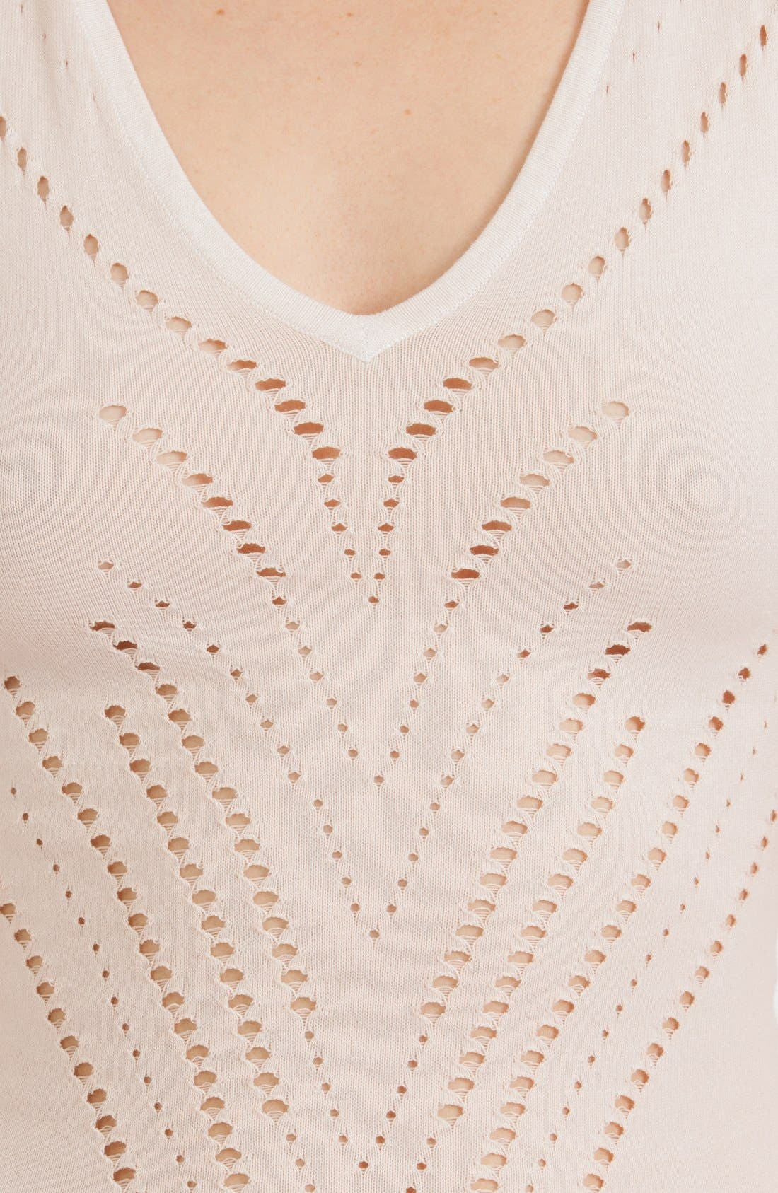 Alternate Image 3  - maje 'Maille' Cotton Blend Fit & Flare Dress