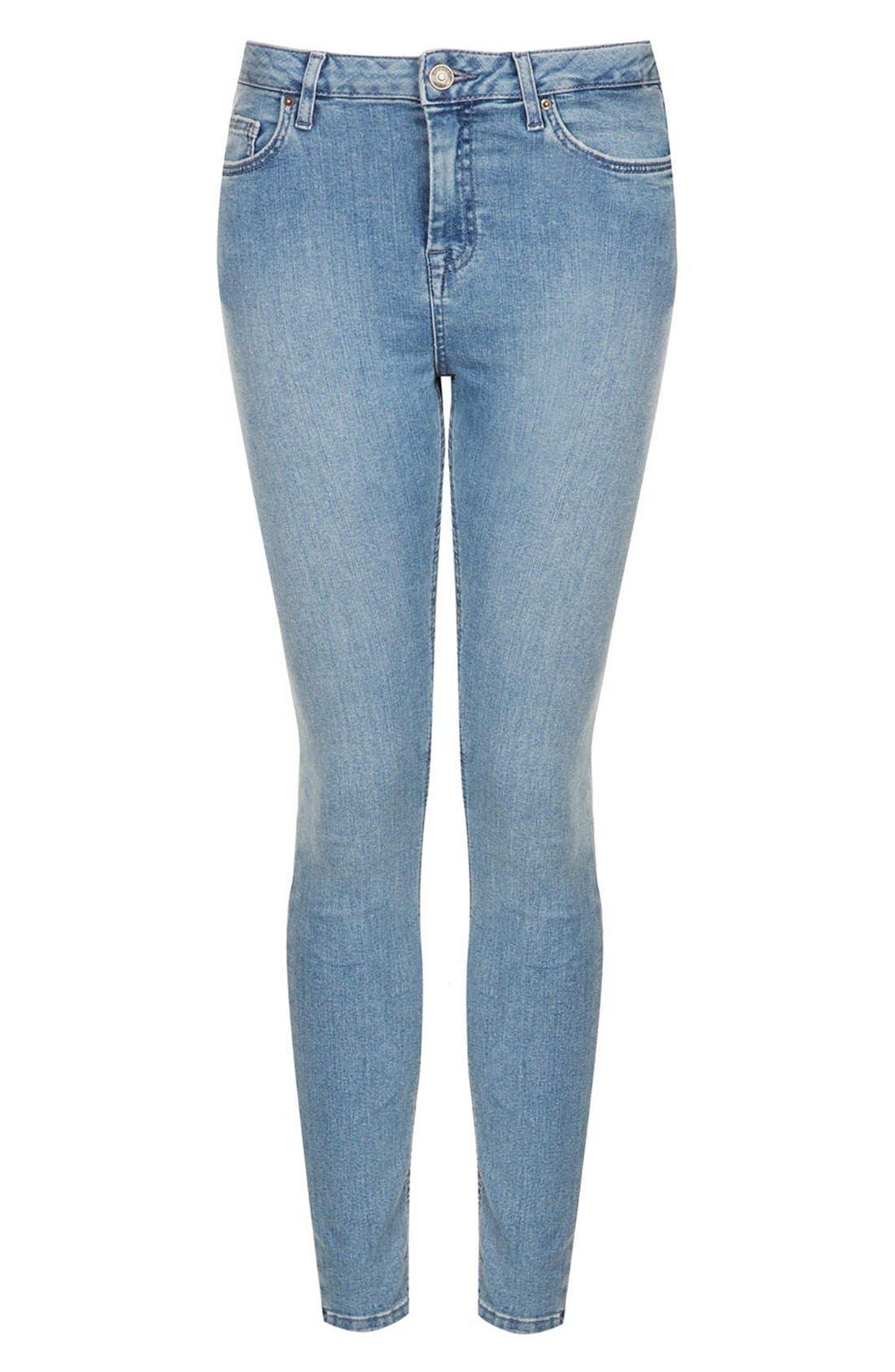 Alternate Image 3  - Topshop Moto 'Jamie' High Rise Skinny Jeans (Mid Stone)