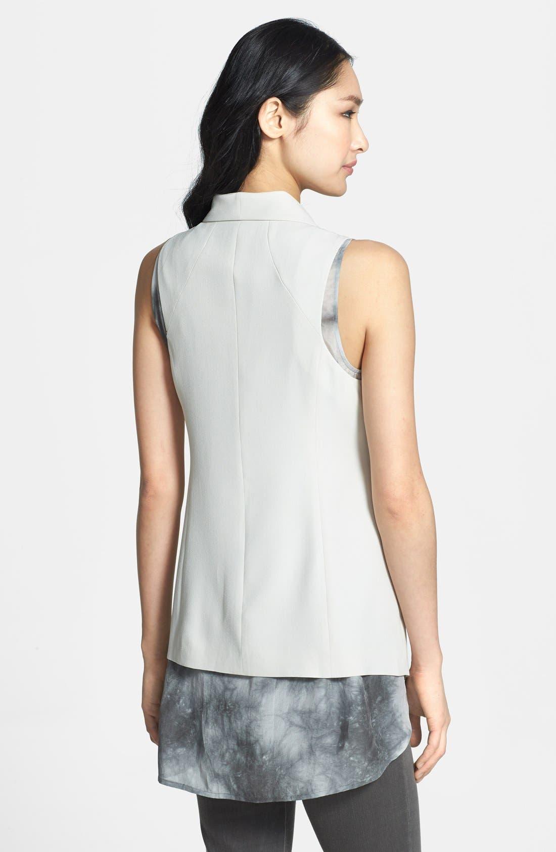 Alternate Image 2  - Eileen Fisher Shawl Collar Long Vest (Regular & Petite)