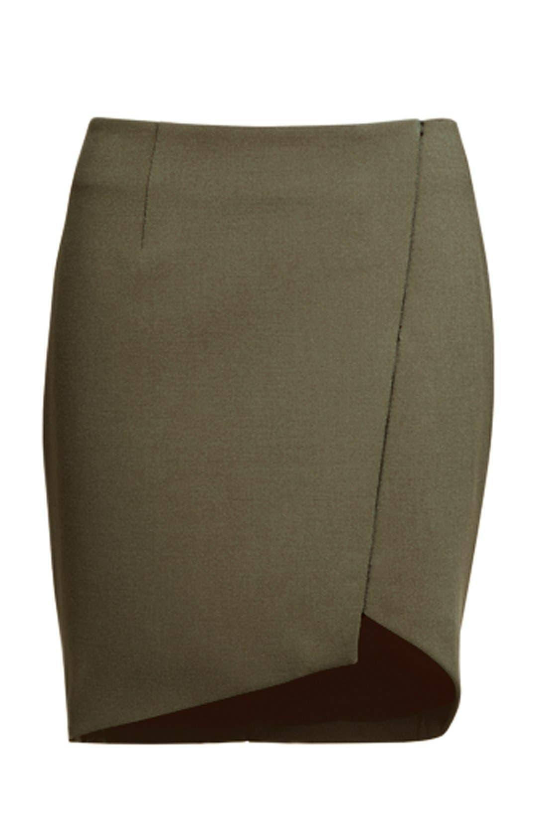 Alternate Image 4  - Trouvé Asymmetrical Miniskirt