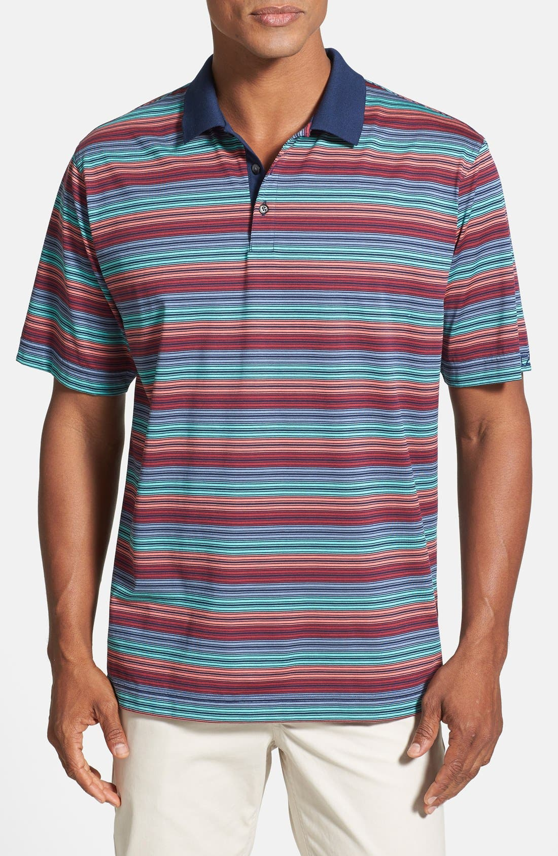 Alternate Image 1 Selected - Cutter & Buck '70/2's Andrew' Performance Stripe Polo