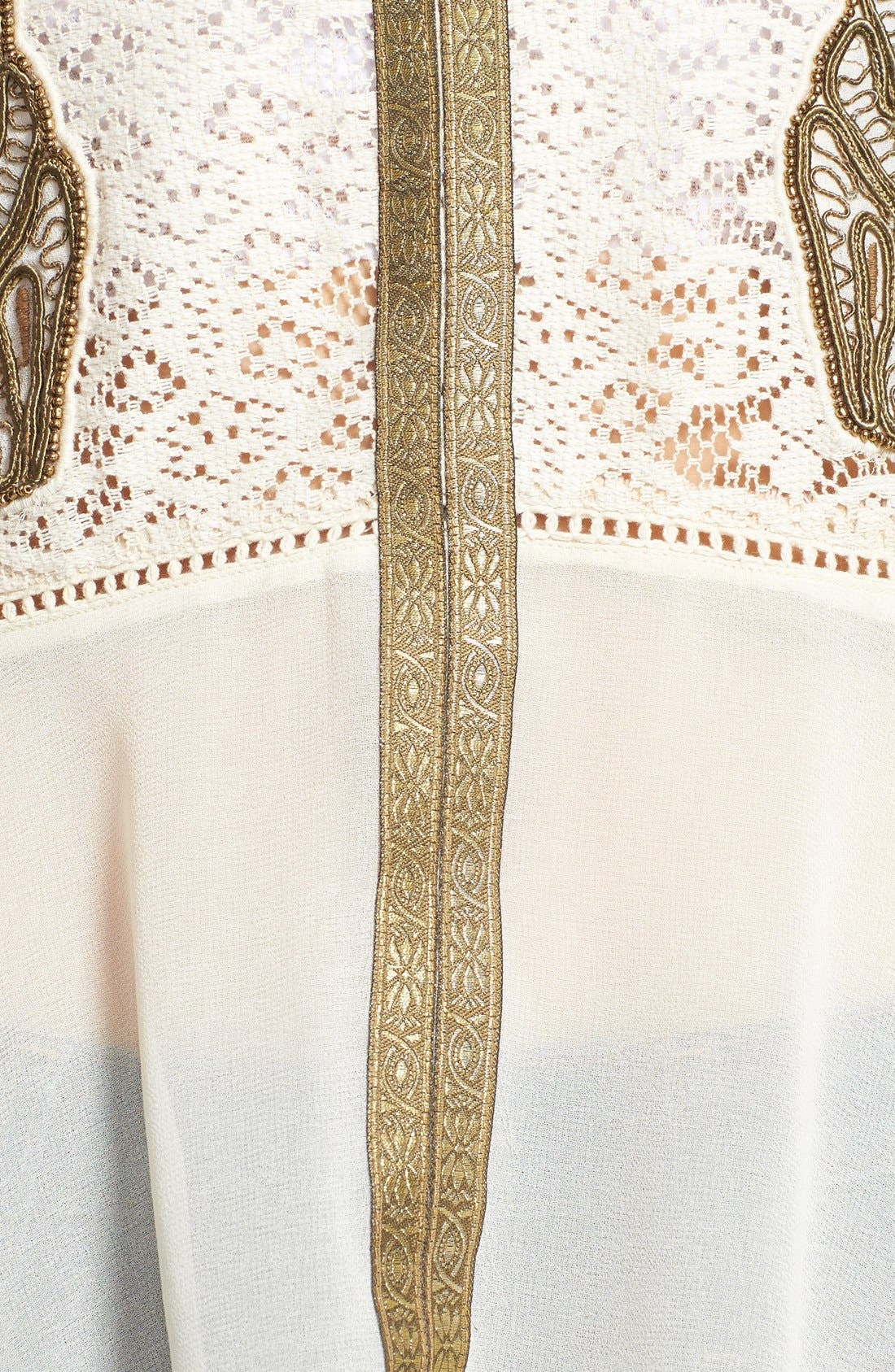 Alternate Image 3  - Free People 'Golden Moments' Embroidered Lace Inset Tunic