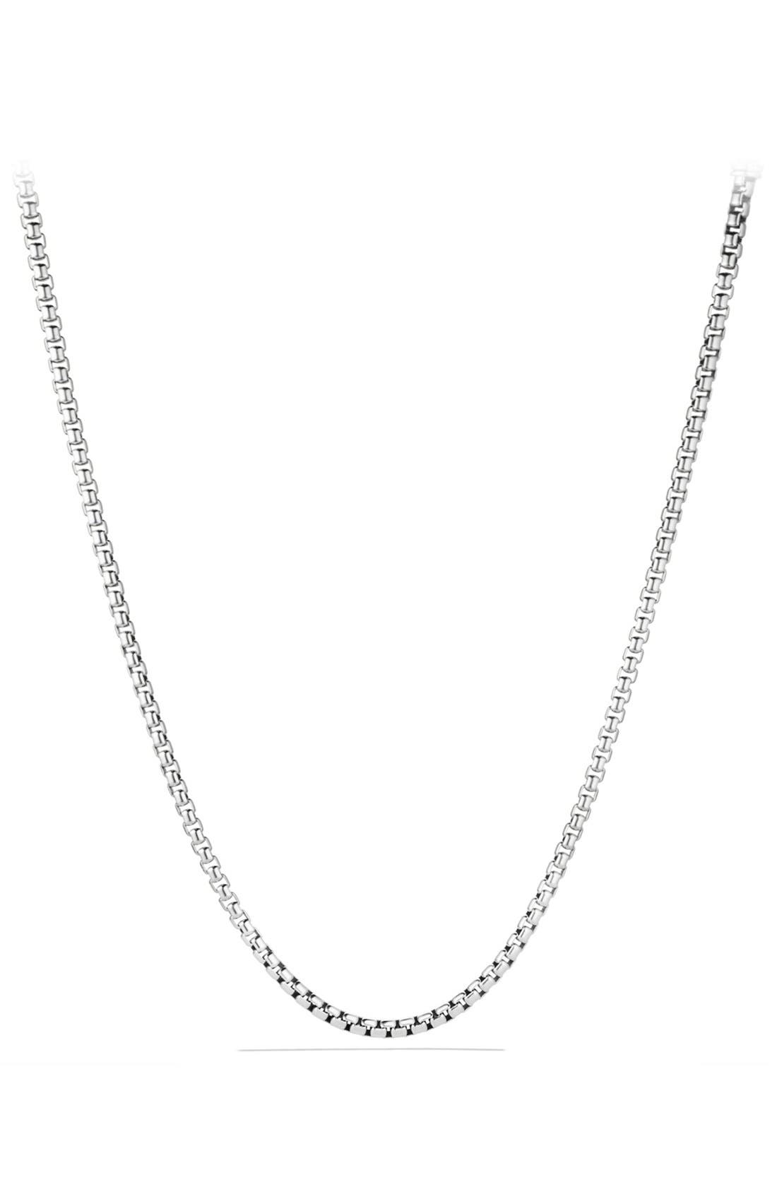 'Chain' Large Box Chain Necklace,                             Main thumbnail 1, color,                             Sterling Silver