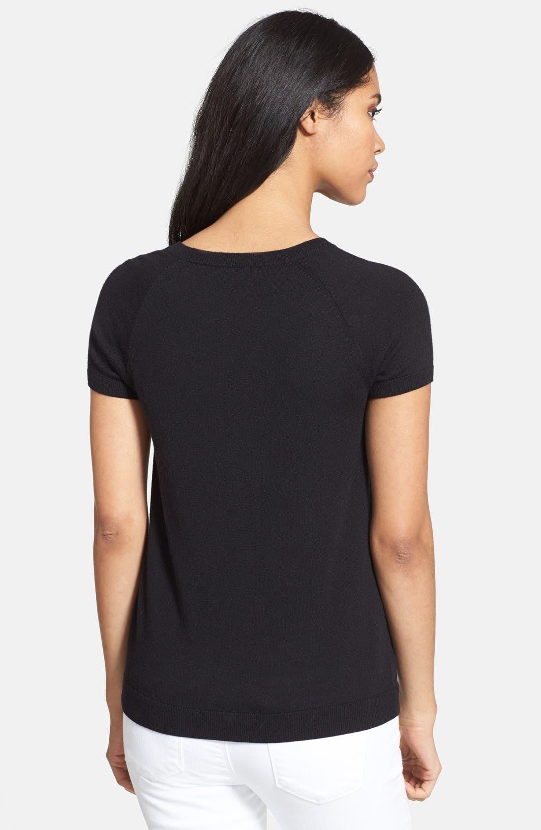 Alternate Image 2  - Halogen® Stripe Raglan Sleeve Sweater (Regular & Petite)
