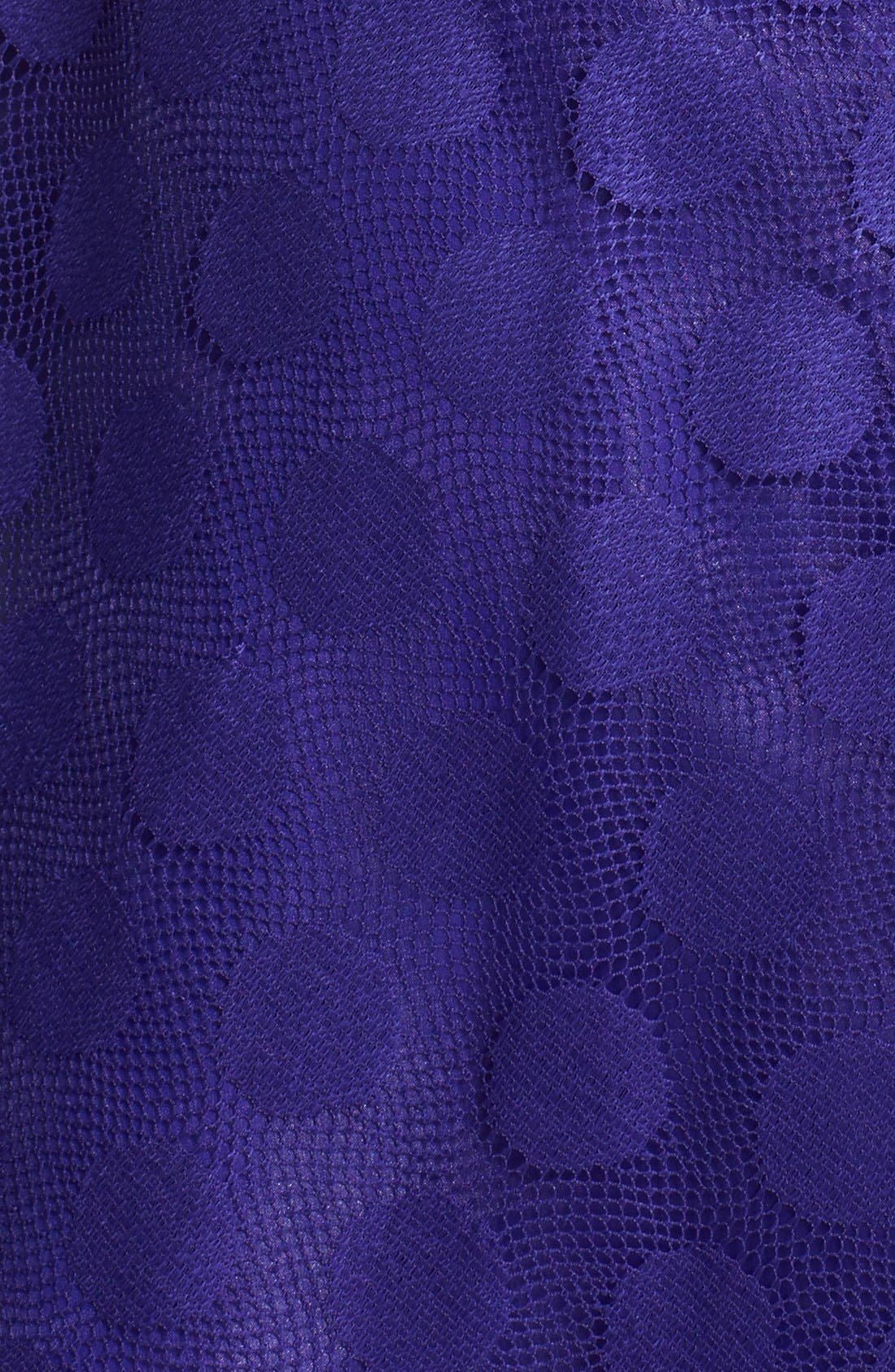 Alternate Image 4  - Betsey Johnson 'Ivory' Polka Dot Mesh Fit & Flare Dress