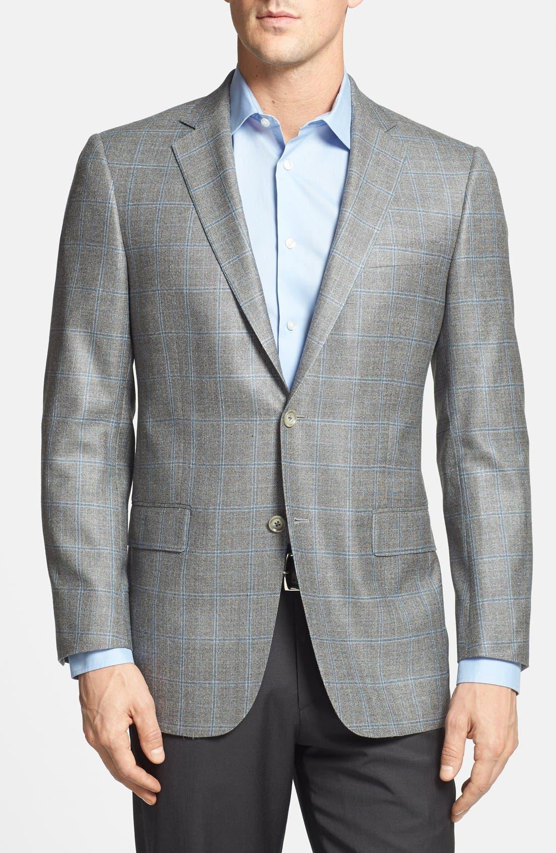 Alternate Image 1 Selected - Hart Schaffner Marx 'New York' Classic Fit Windowpane Sportcoat