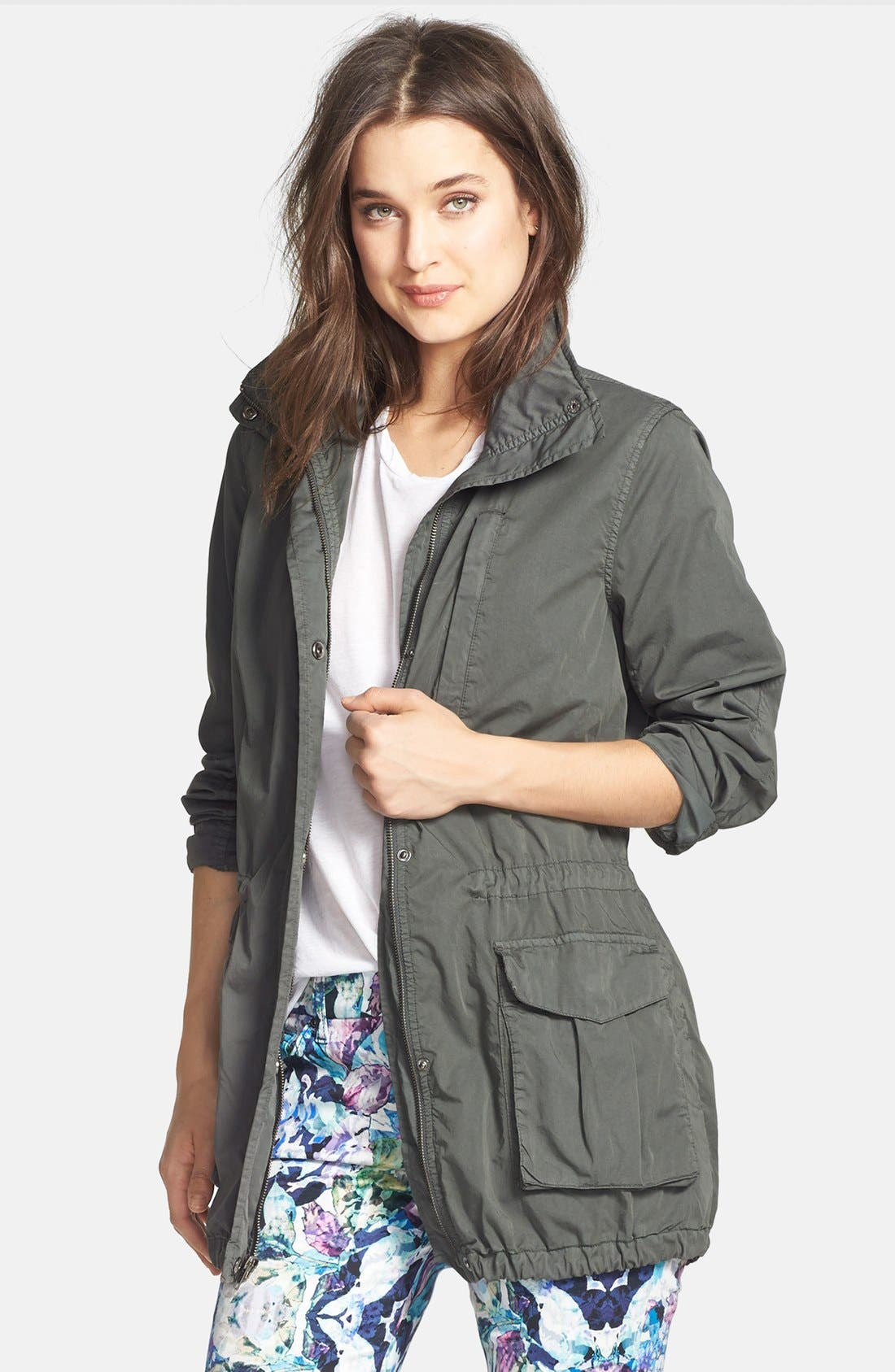 Utility Jacket,                         Main,                         color, Forest Green
