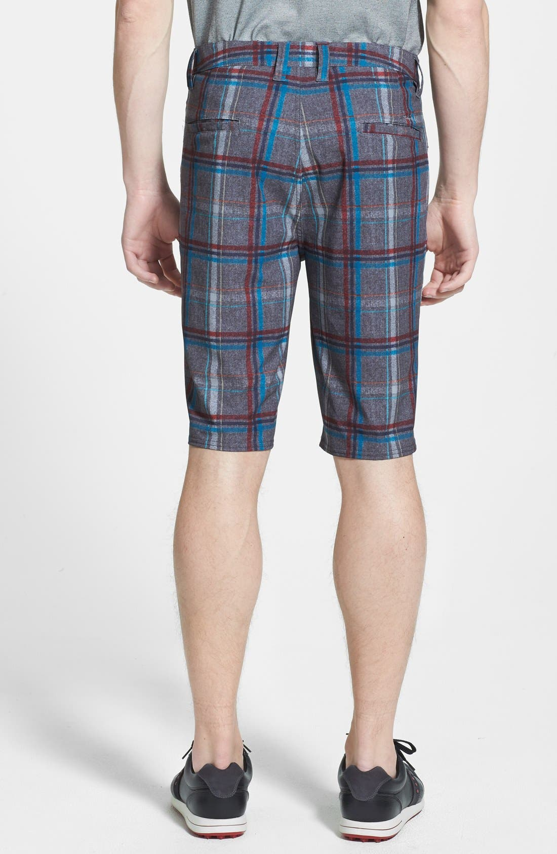 'Marsh' Performance Stretch Shorts,                             Alternate thumbnail 2, color,                             Grey/ Red/ Blue Plaid
