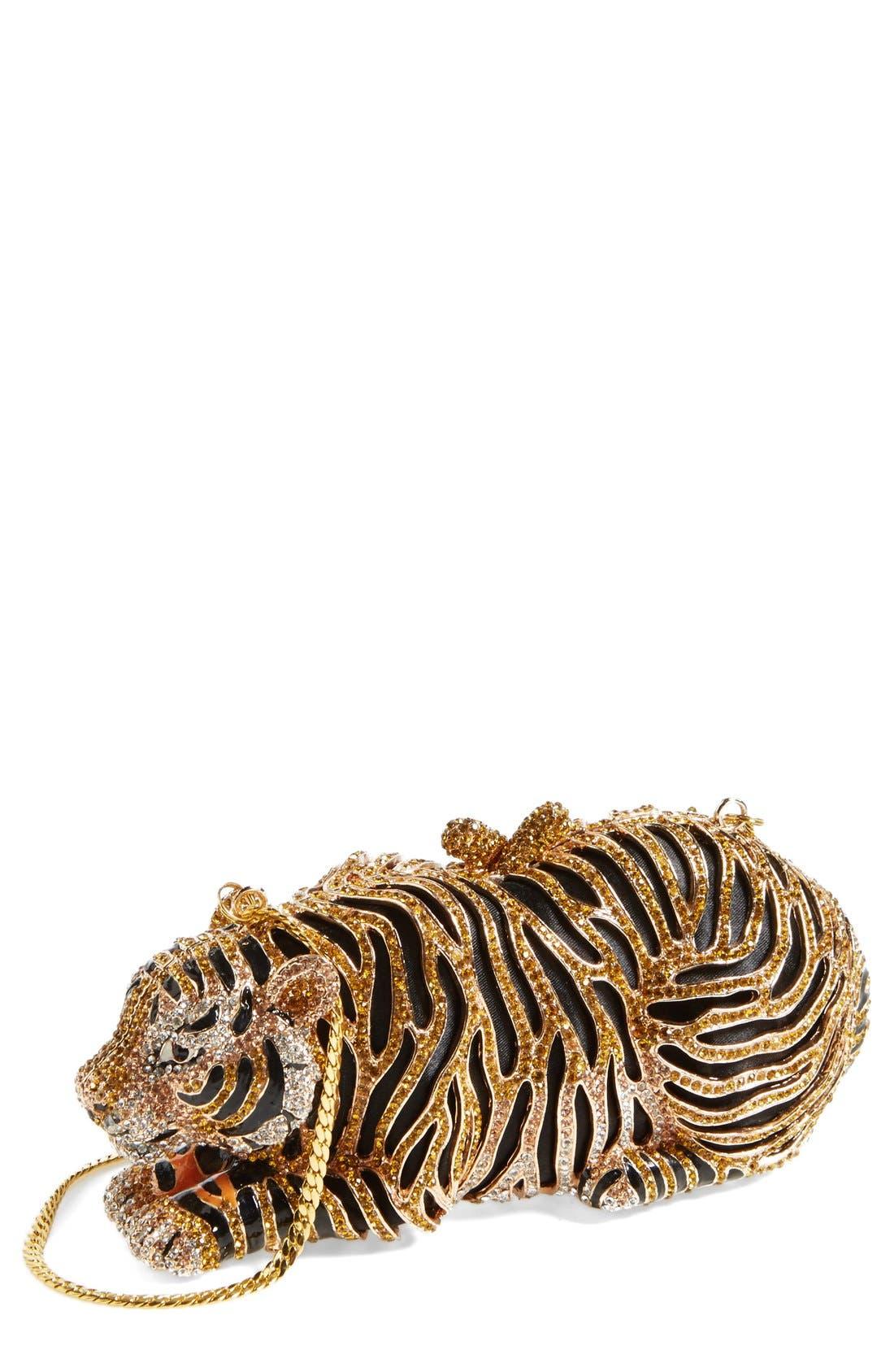 Alternate Image 1 Selected - Natasha Couture Tiger Minaudiere
