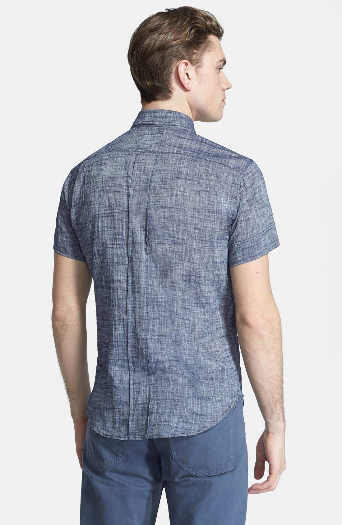 Alternate Image 3  - Billy Reid 'Donelson' Standard Fit Short Sleeve Chambray Shirt