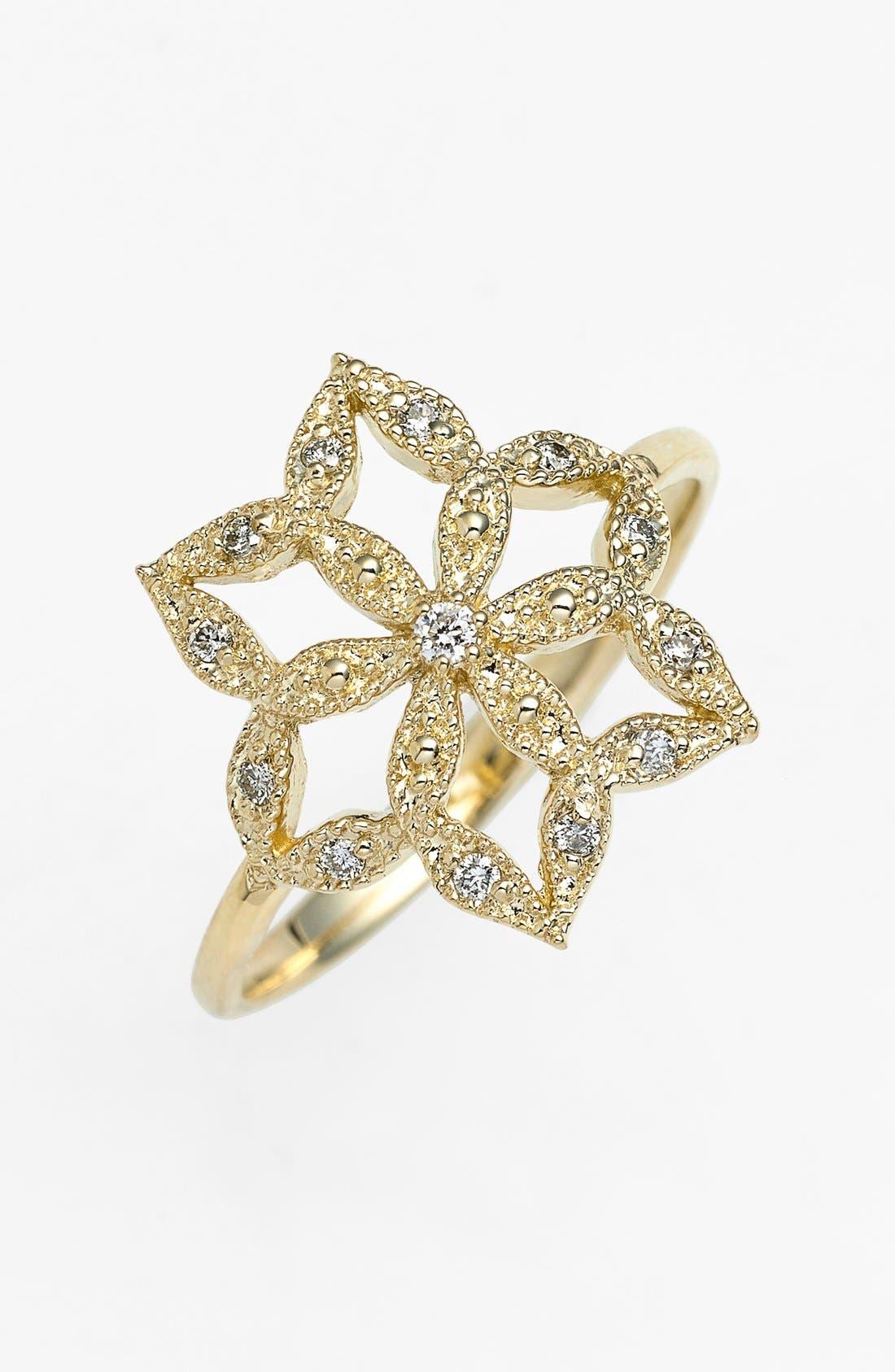 Alternate Image 1 Selected - Mizuki 'Sea of Beauty' Diamond Flower Cocktail Ring