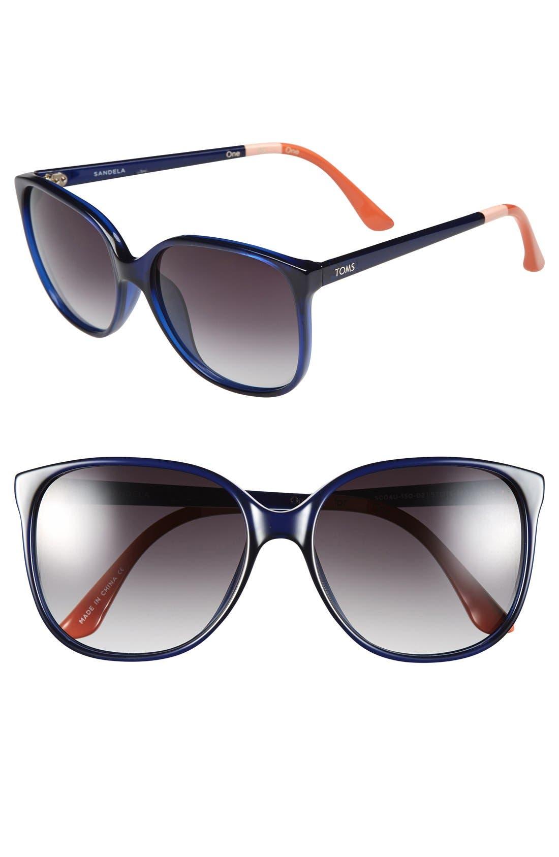 Alternate Image 1 Selected - TOMS 'Sandela' 57mm Sunglasses