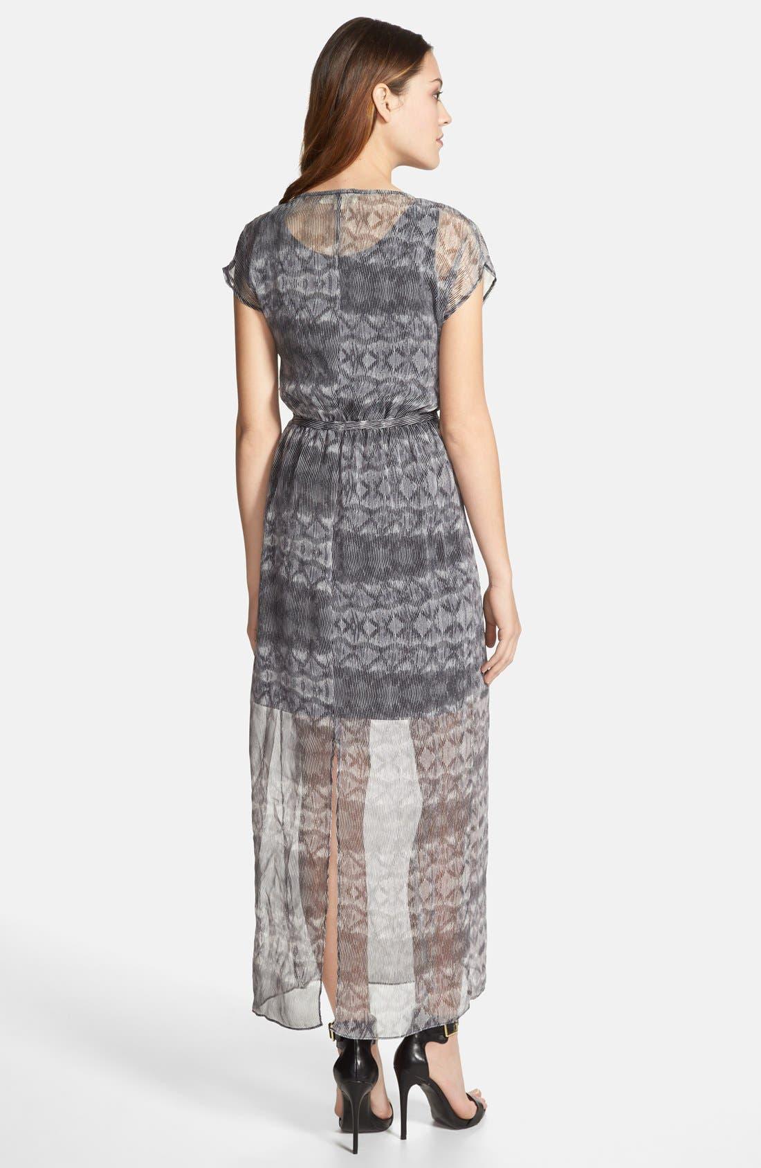 Alternate Image 2  - Olive & Oak Tie Waist Print Maxi Dress